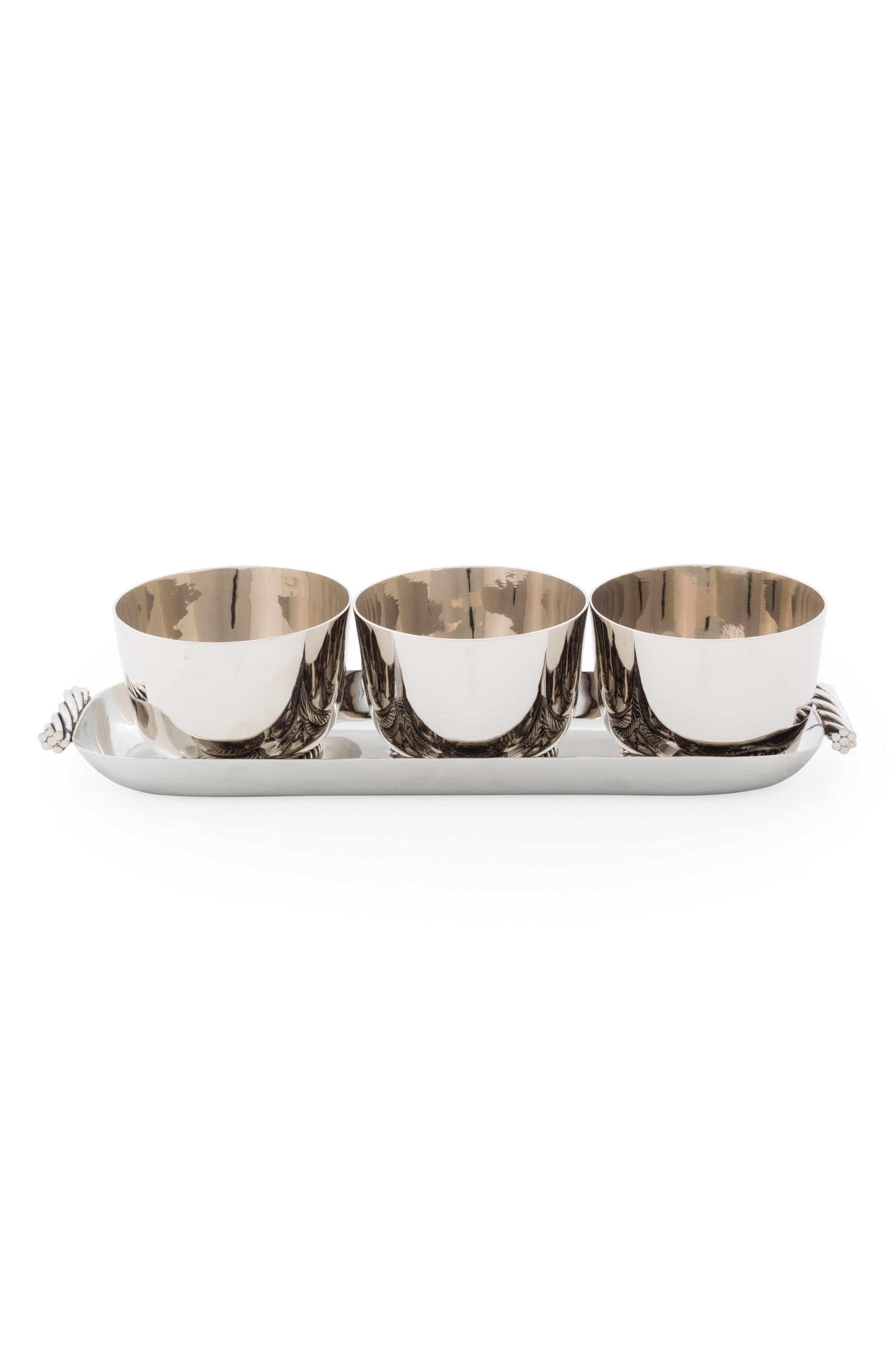 Twist Condiment Bowl & Serving Tray Set,                         Main,                         color, Twist