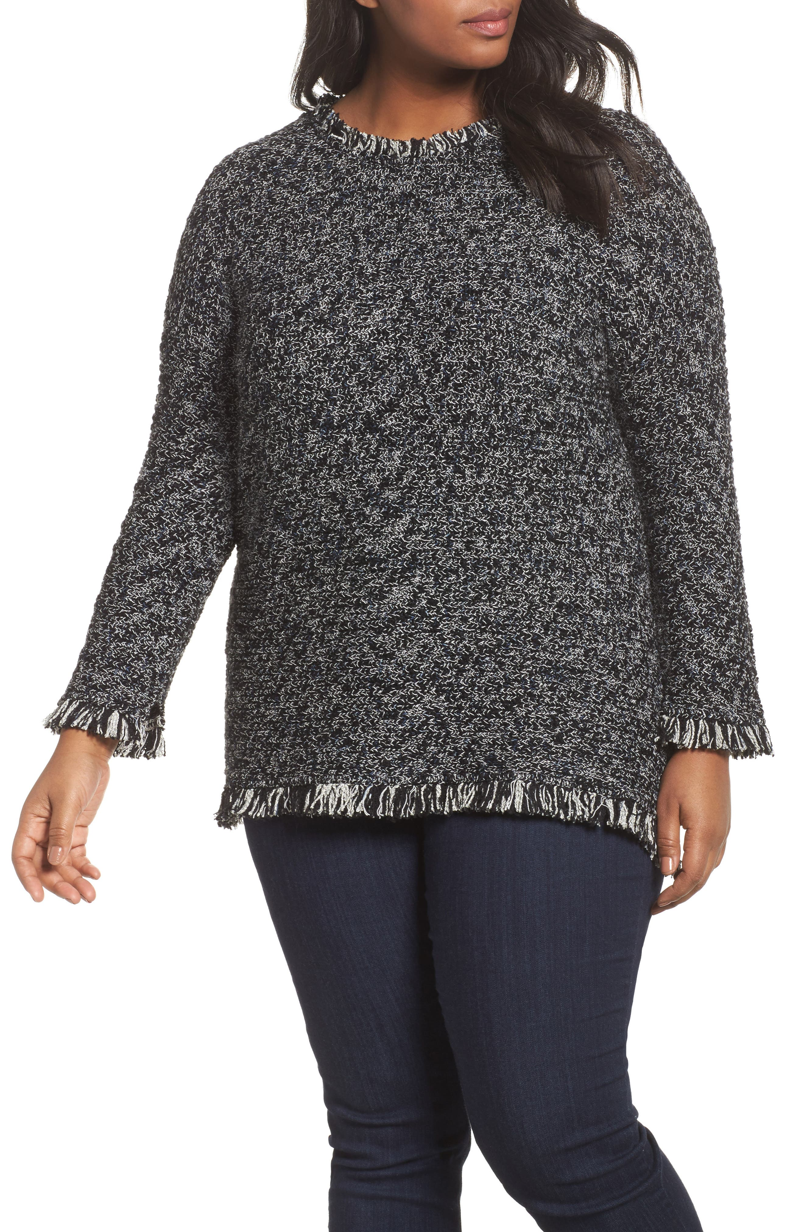 NIC+ZOE Misty Fringe Top (Plus Size)