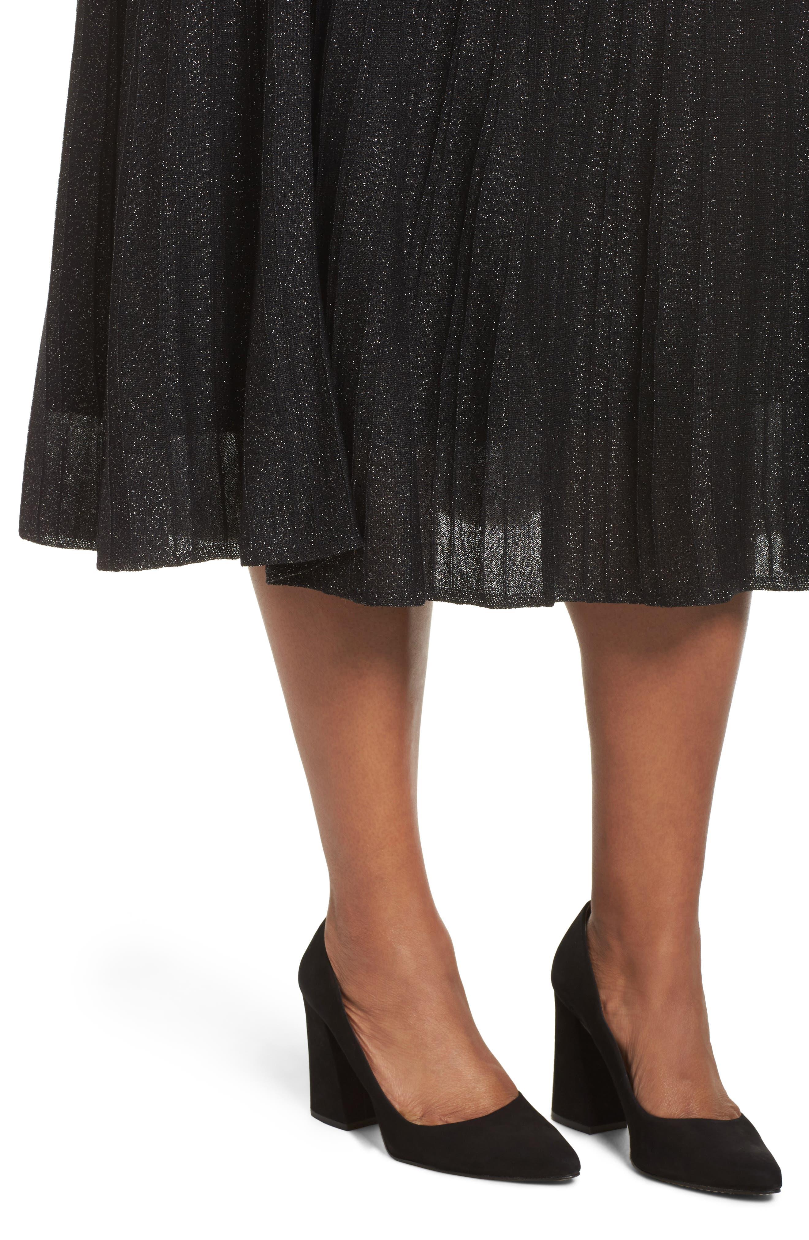 Luminary Skirt,                             Alternate thumbnail 4, color,                             Black Mix