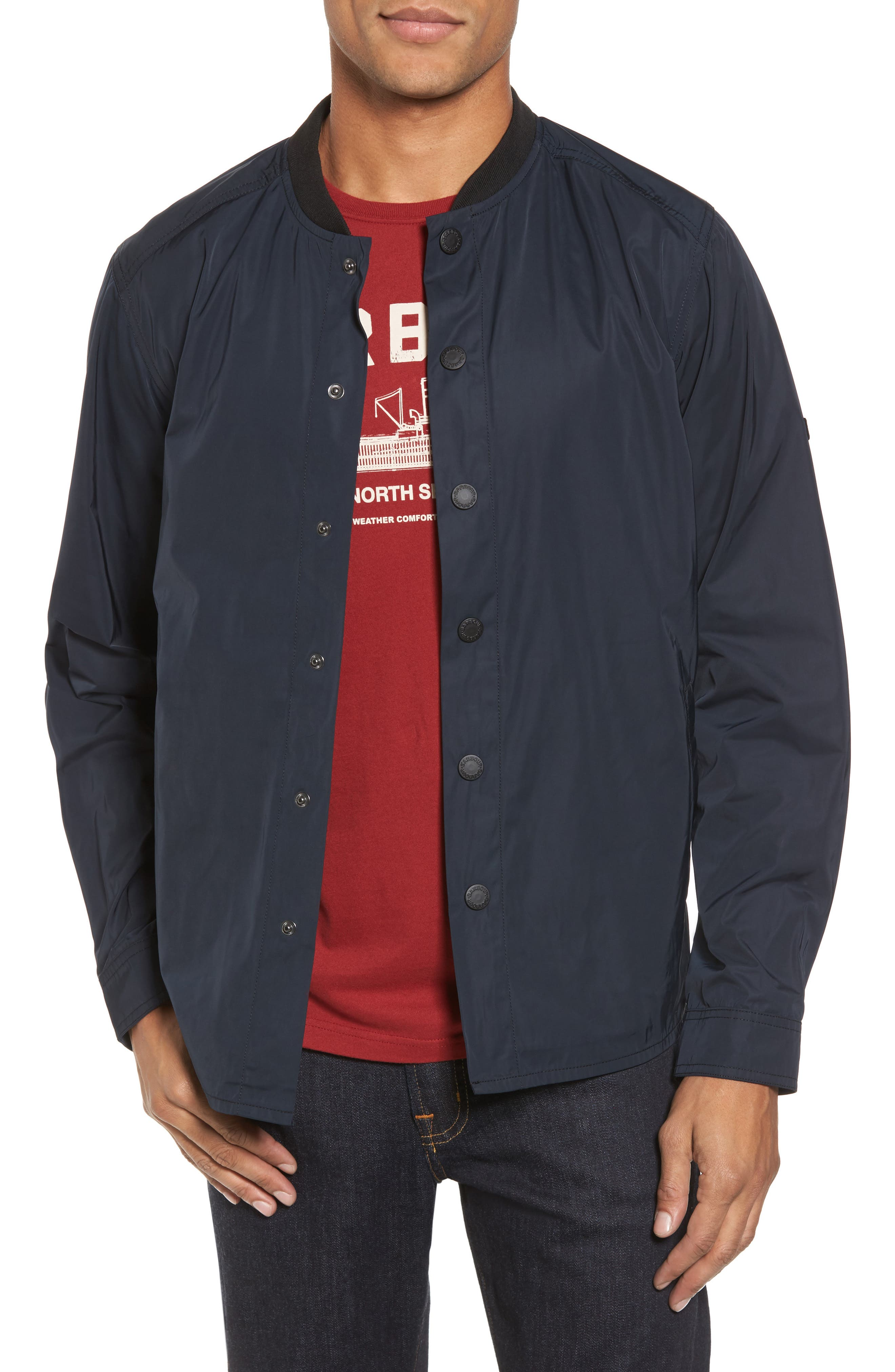 International Snap Front Overshirt,                         Main,                         color, Black