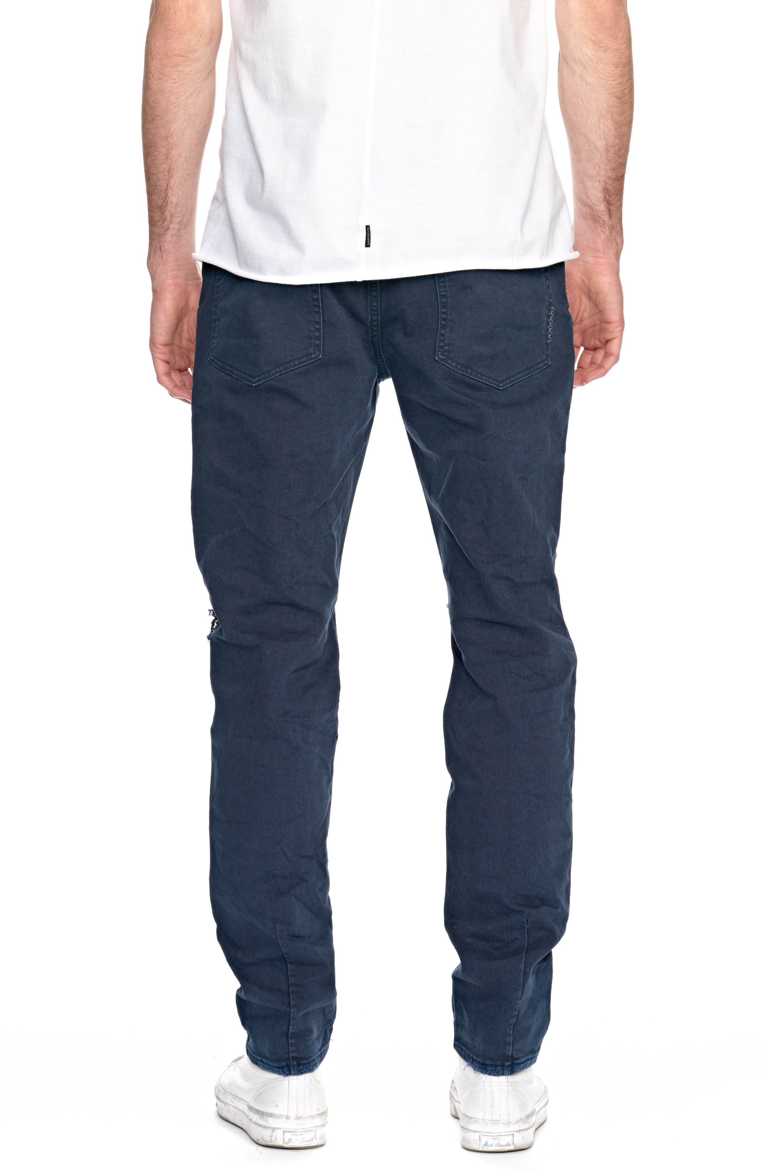 Ray Slouchy Slim Fit Jeans,                             Alternate thumbnail 2, color,                             Busted Navy