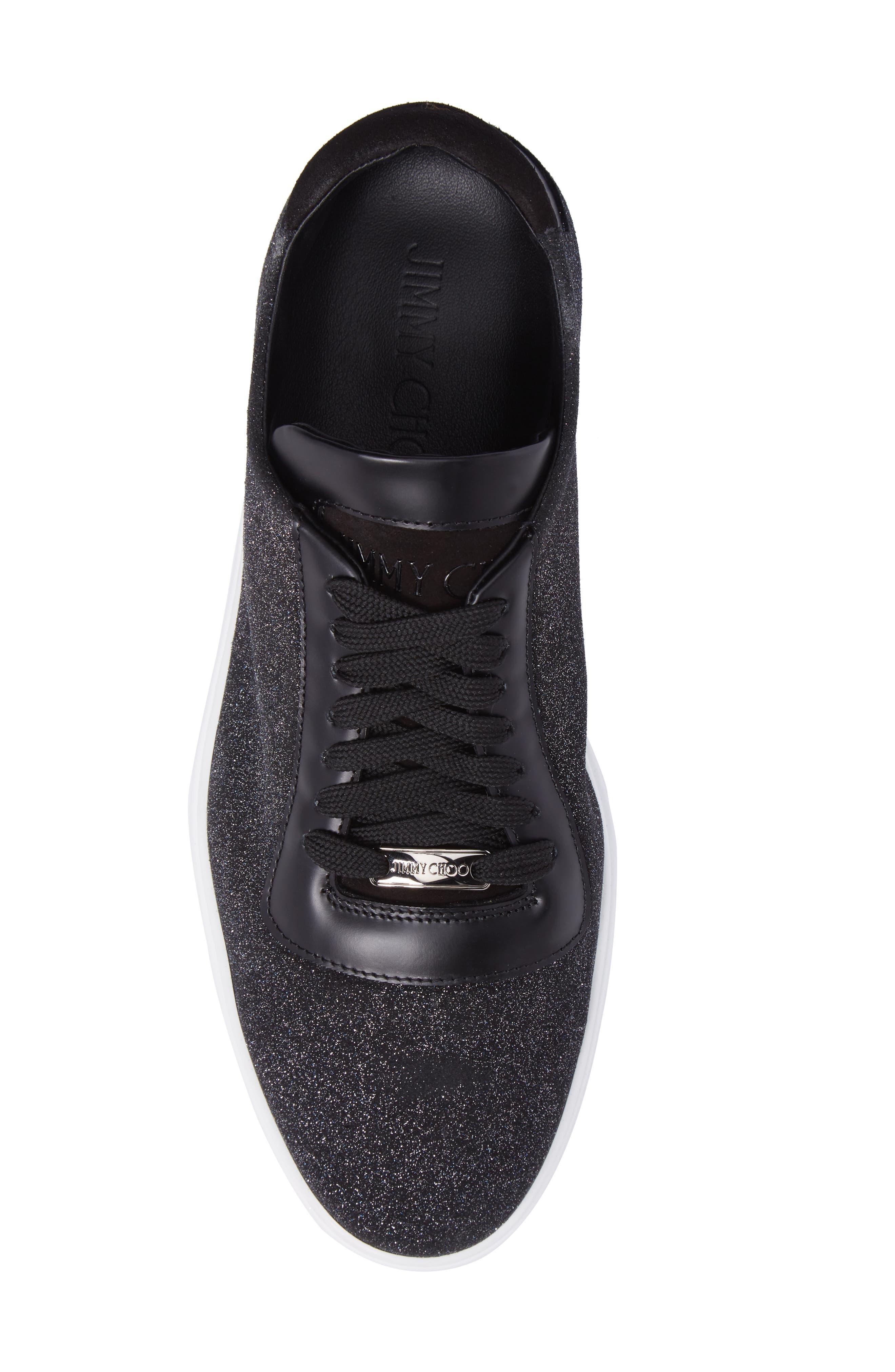 Benn Glitter Low Top Sneaker,                             Alternate thumbnail 5, color,                             Smoky Blue