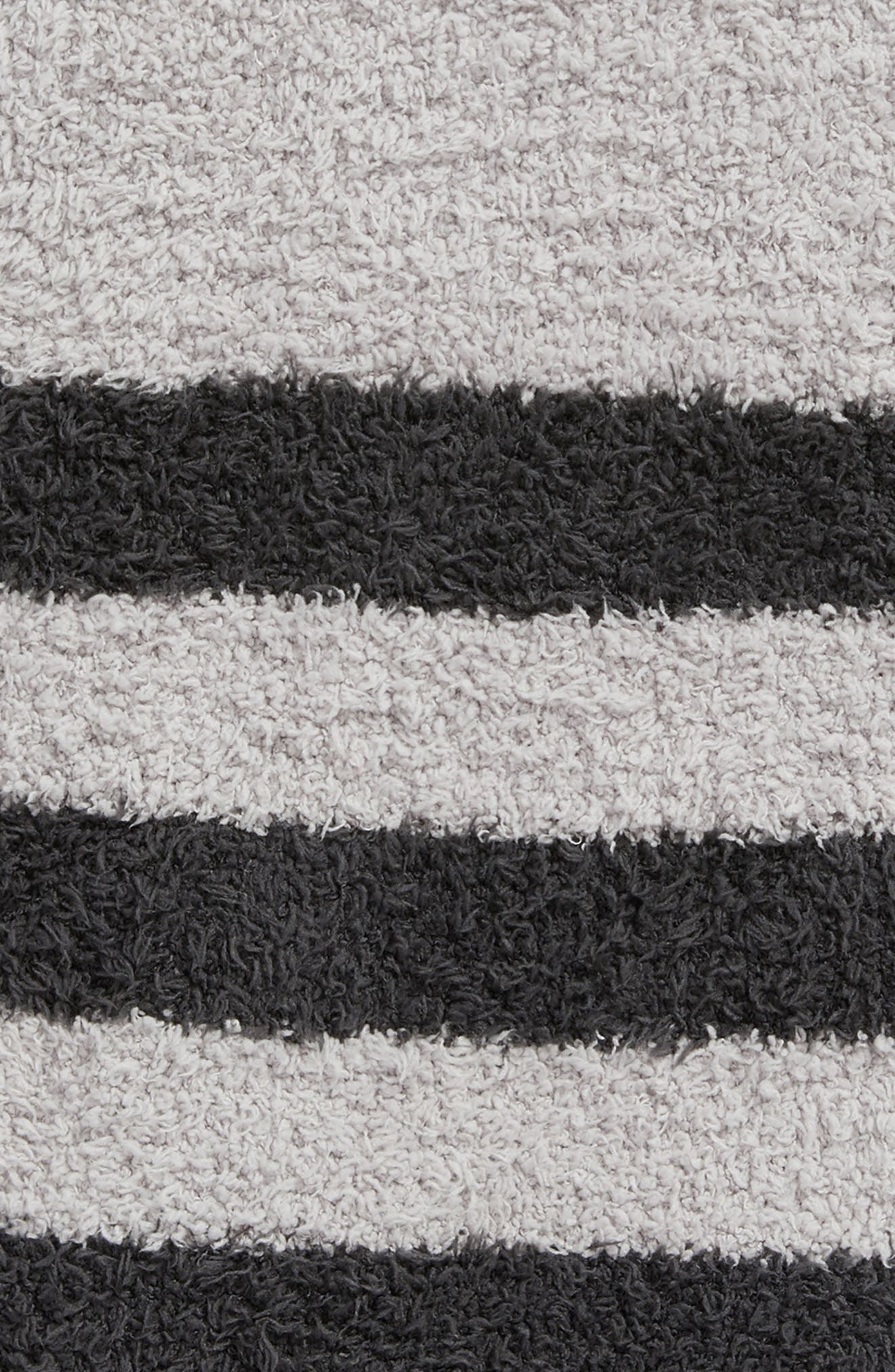 Barefoot Dreams Cozychic<sup>®</sup> Tri Stripe Throw,                             Alternate thumbnail 2, color,                             Oyster/ Carbon
