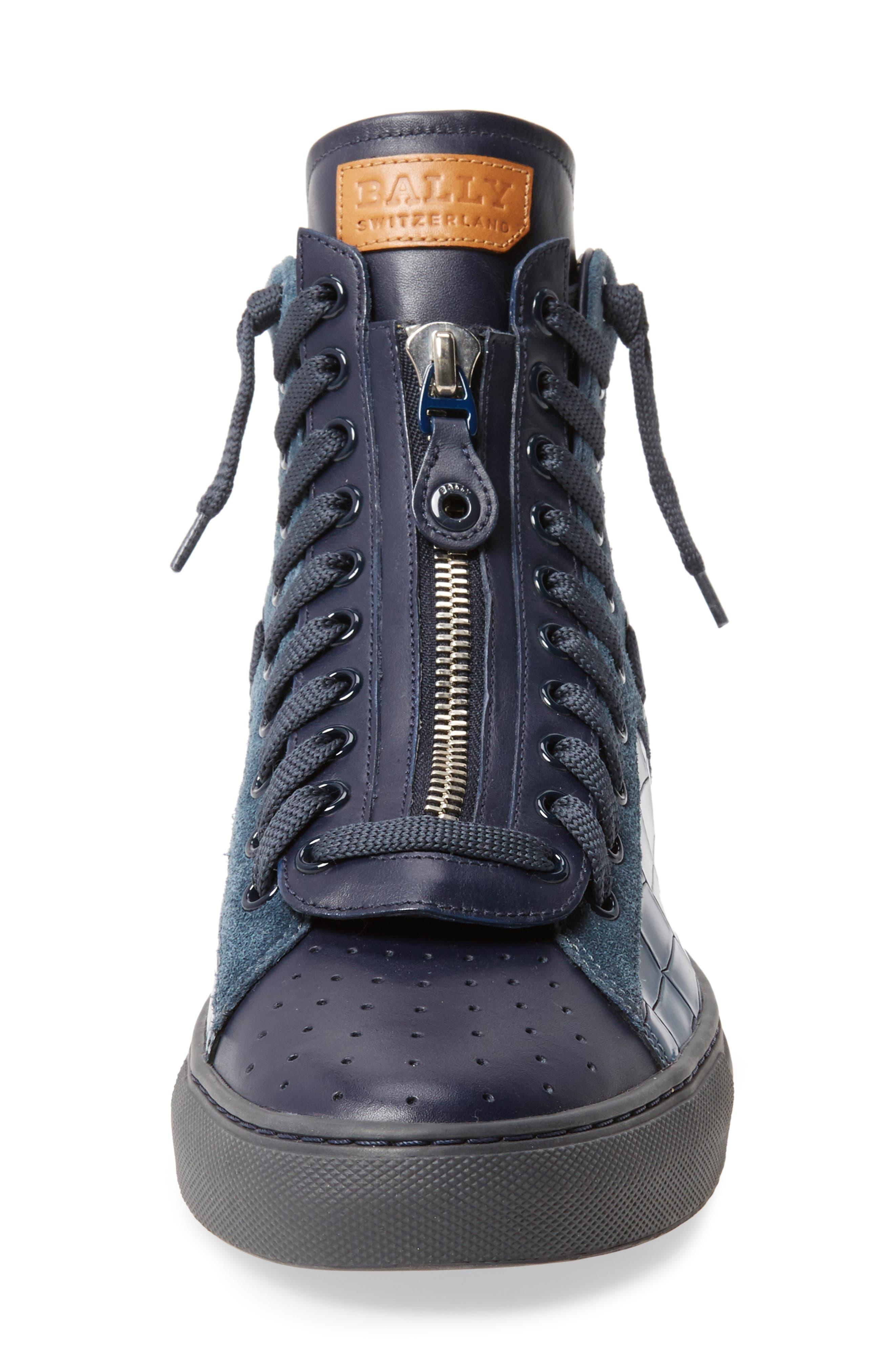 Hekem High-Top Sneaker,                             Alternate thumbnail 4, color,                             Ocean