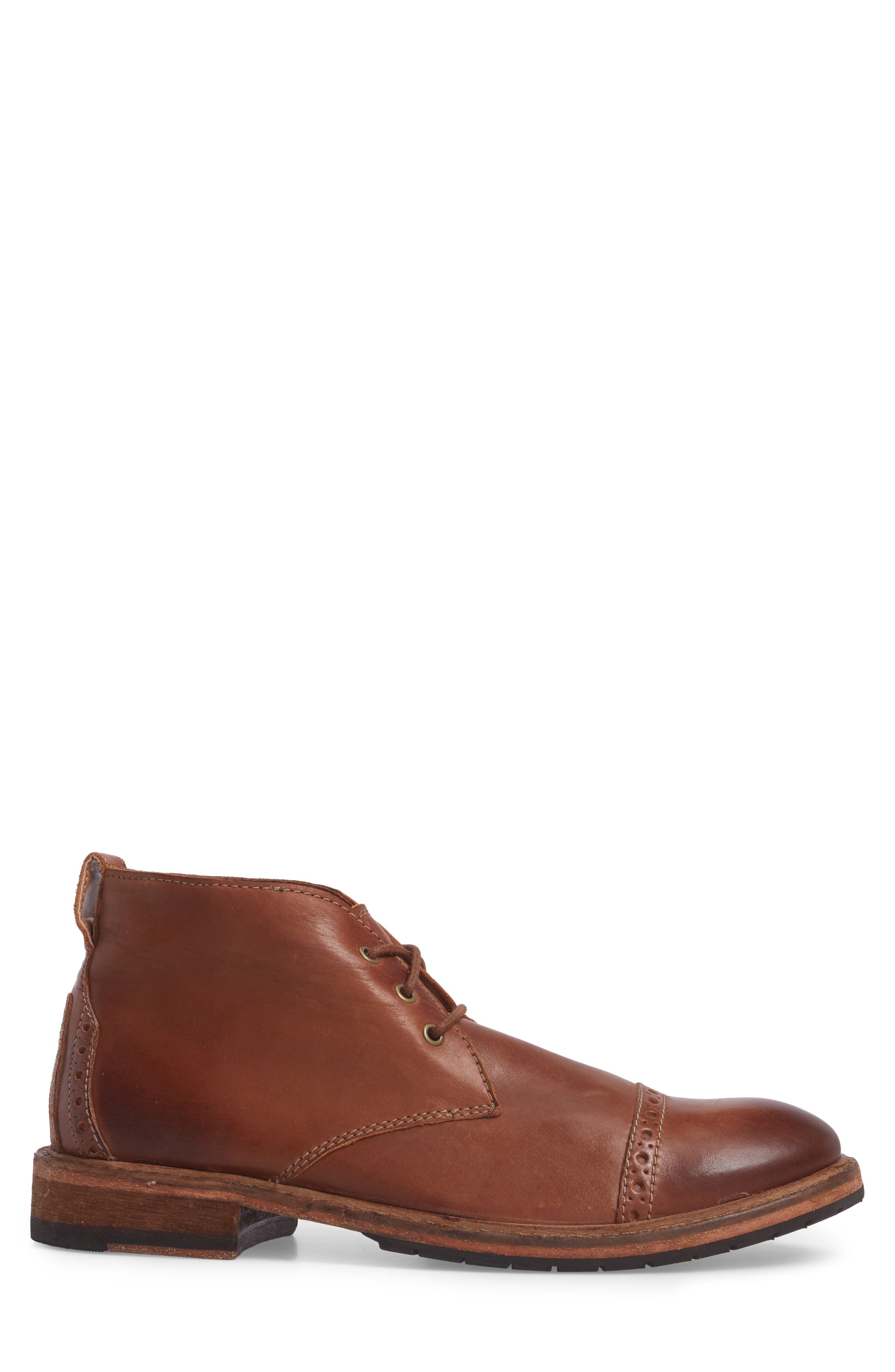 Clarkdale Water Resistant Chukka Boot,                             Alternate thumbnail 3, color,                             Dark Tan Leather