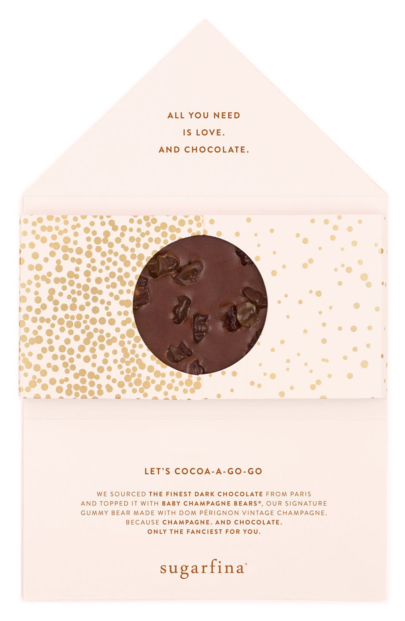 2-Pack Dark Chocolate Champagne Bears Bars,                             Alternate thumbnail 3, color,                             Pink