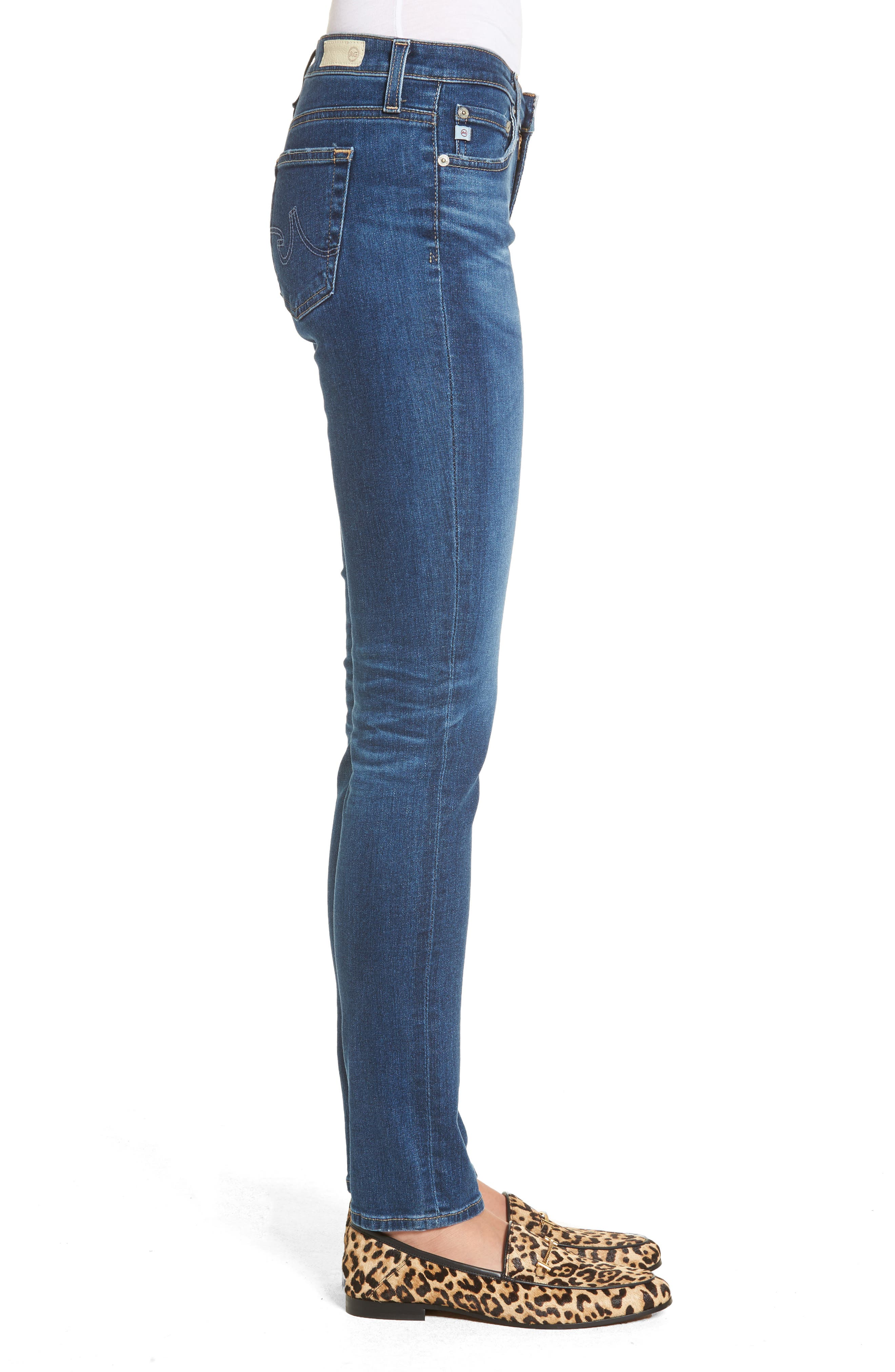 The Stilt Cigarette Skinny Jeans,                             Alternate thumbnail 2, color,                             8 Years Blue Portrait