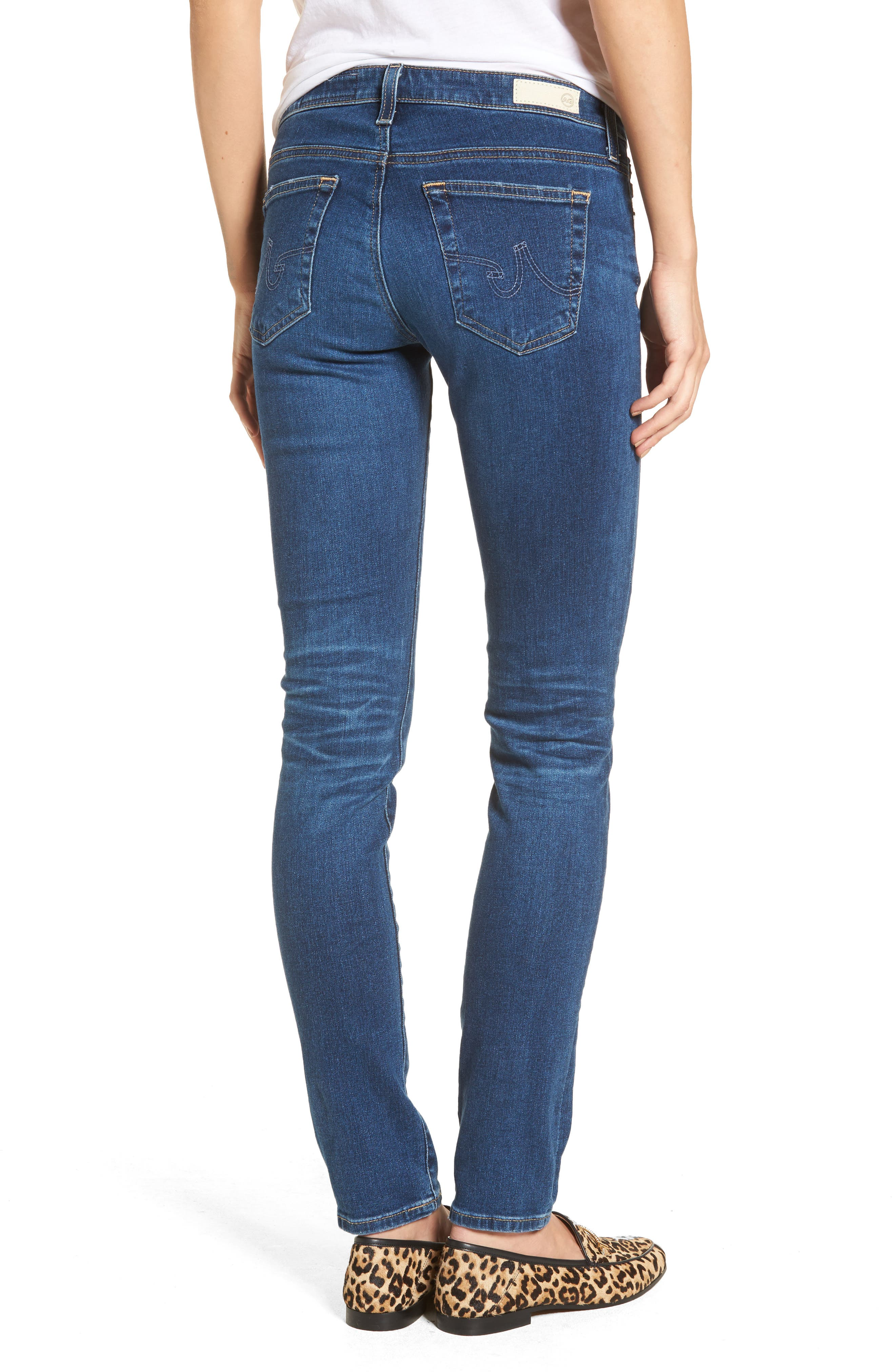 The Stilt Cigarette Skinny Jeans,                             Alternate thumbnail 3, color,                             8 Years Blue Portrait
