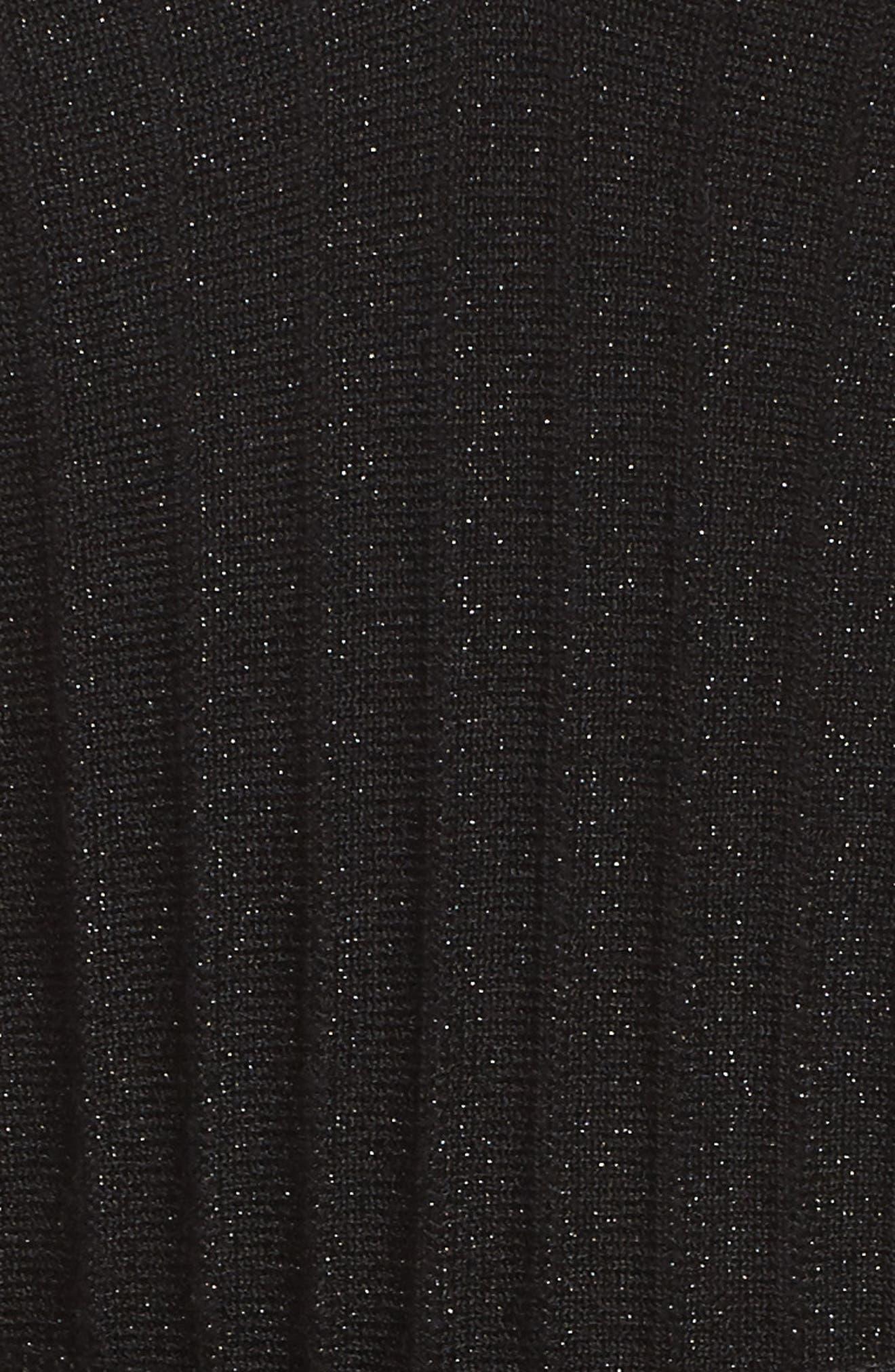 NIC + ZOE Shimmer Pleats Dress,                             Alternate thumbnail 6, color,                             Metallic B