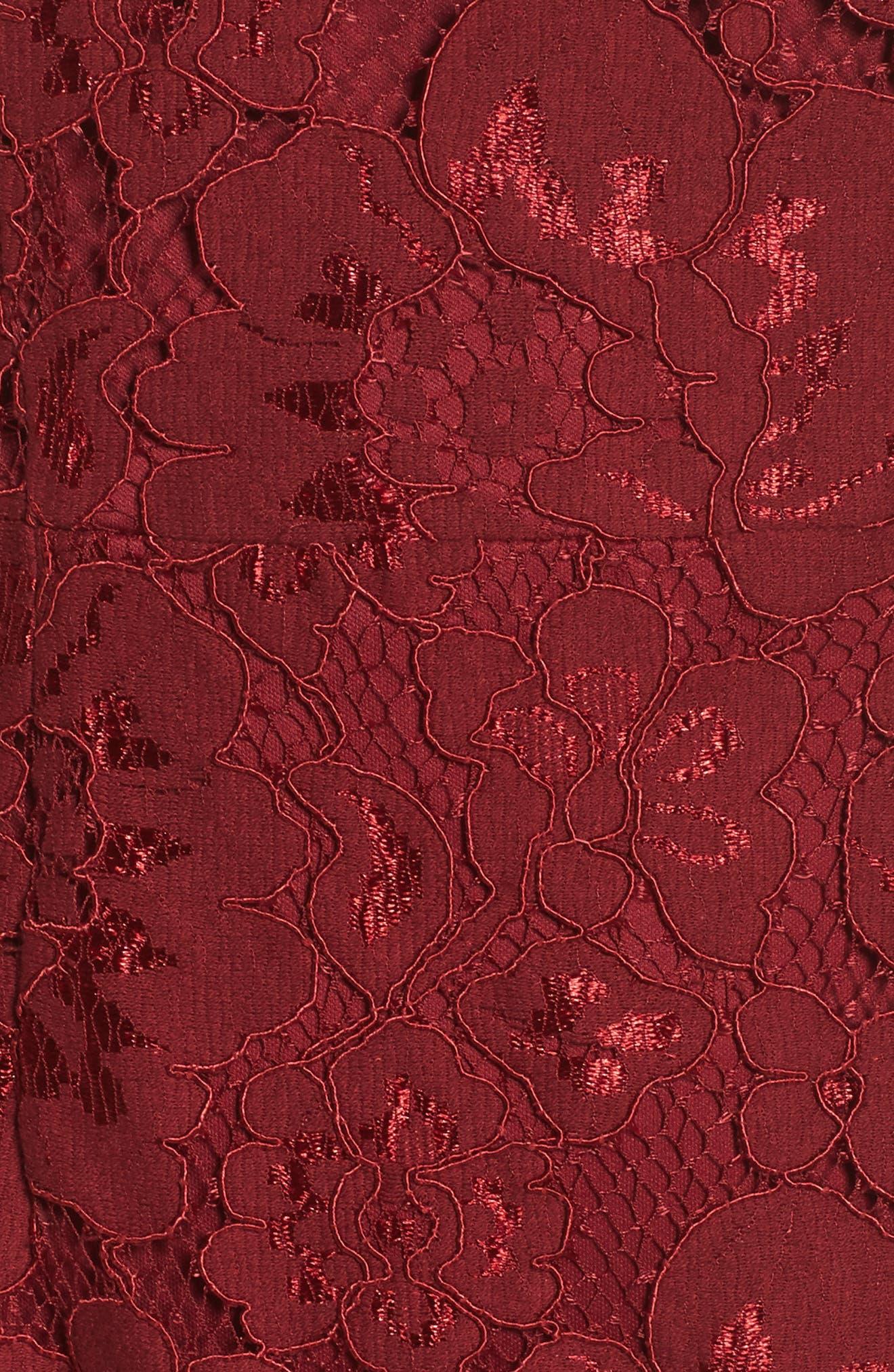 Alternate Image 3  - Betsey Johnson Lace Sheath Dress