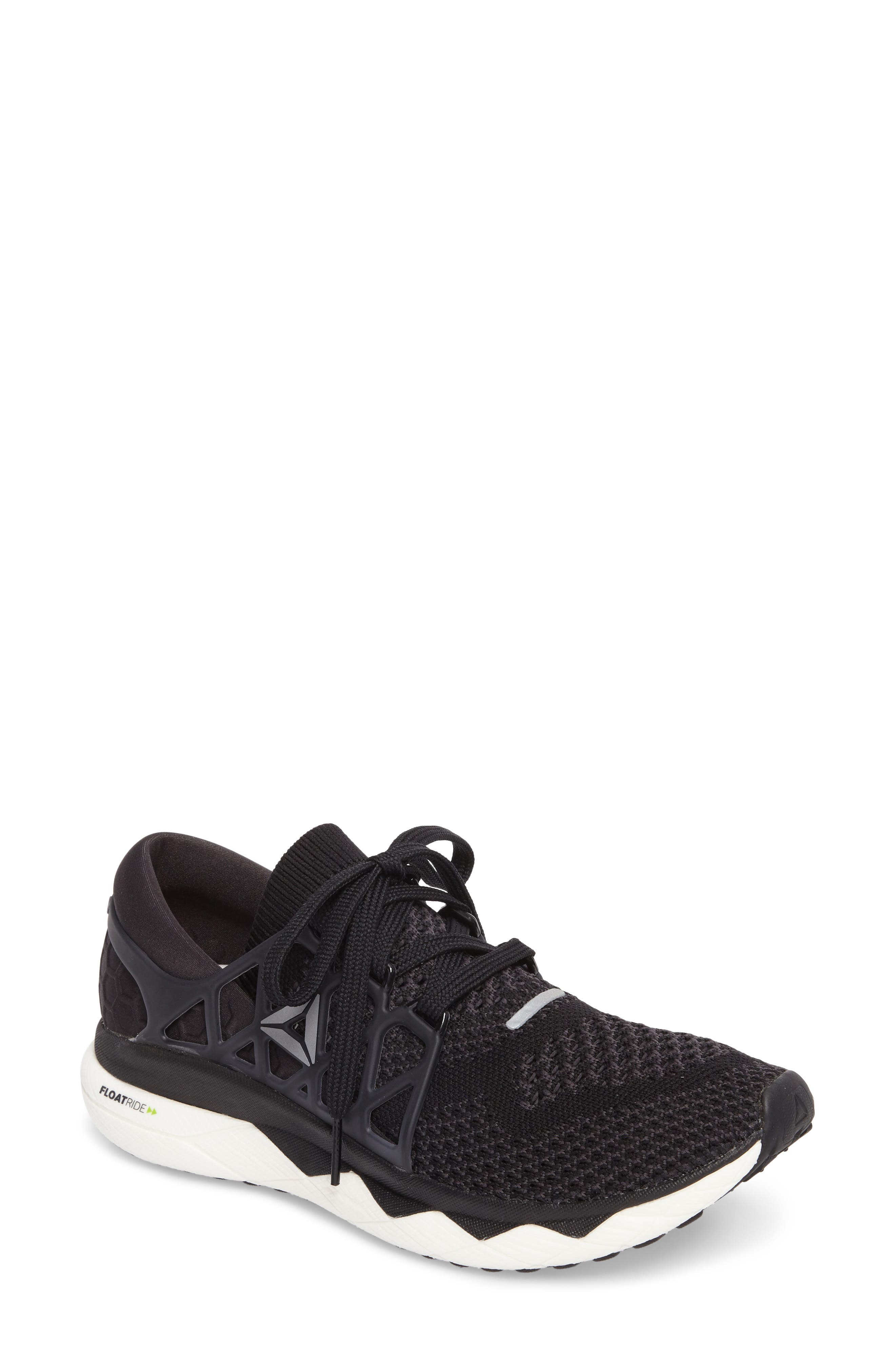 Floatride Run Running Shoe,                         Main,                         color, Black/ Gravel/ White