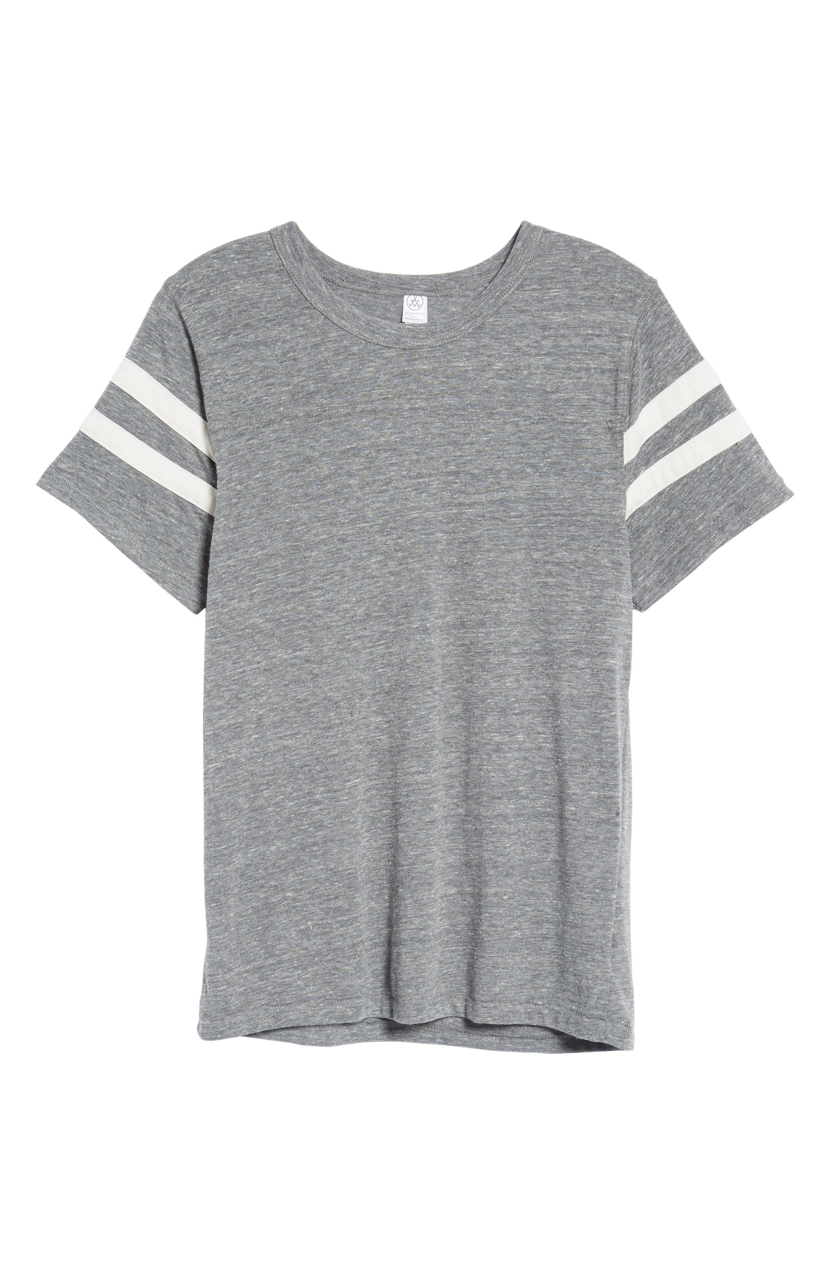 Football T-Shirt,                             Alternate thumbnail 6, color,                             Eco Grey/ Eco Ivory
