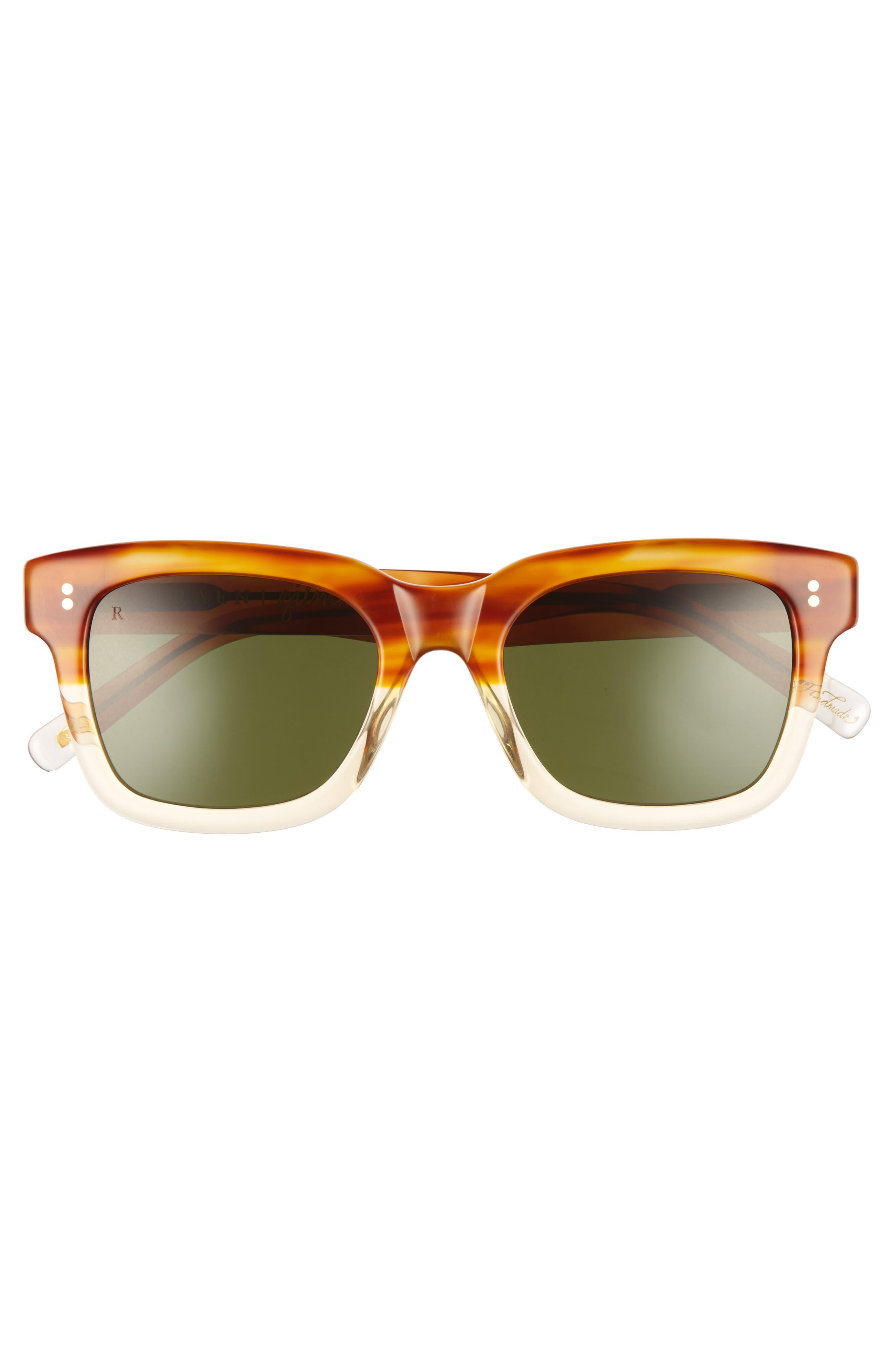 Gilman 52mm Polarized Sunglasses,                             Alternate thumbnail 2, color,                             Honey Havana/ Green