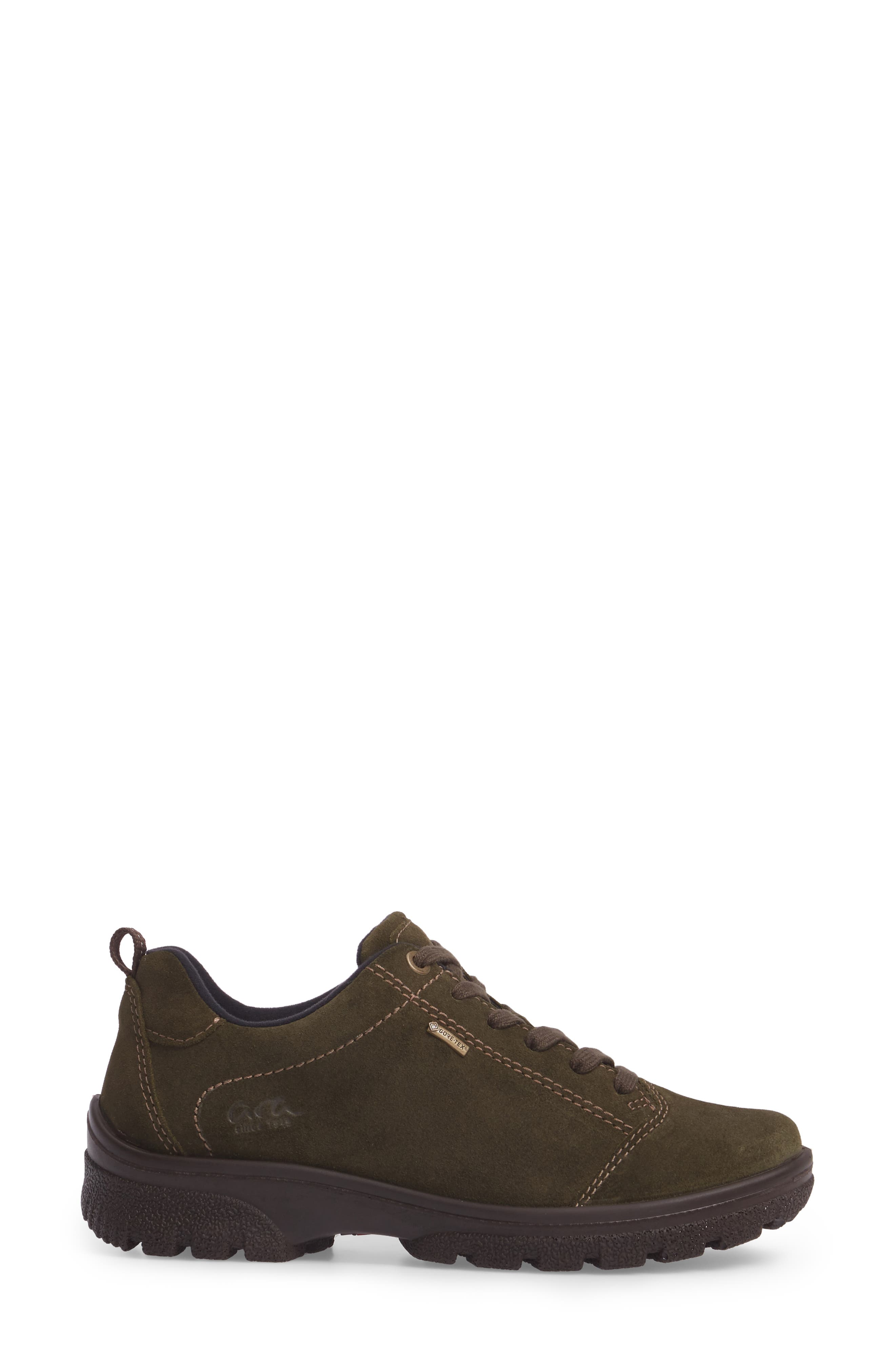 Sophie Gore-Tex<sup>®</sup> Sneaker,                             Alternate thumbnail 3, color,                             Pine Suede