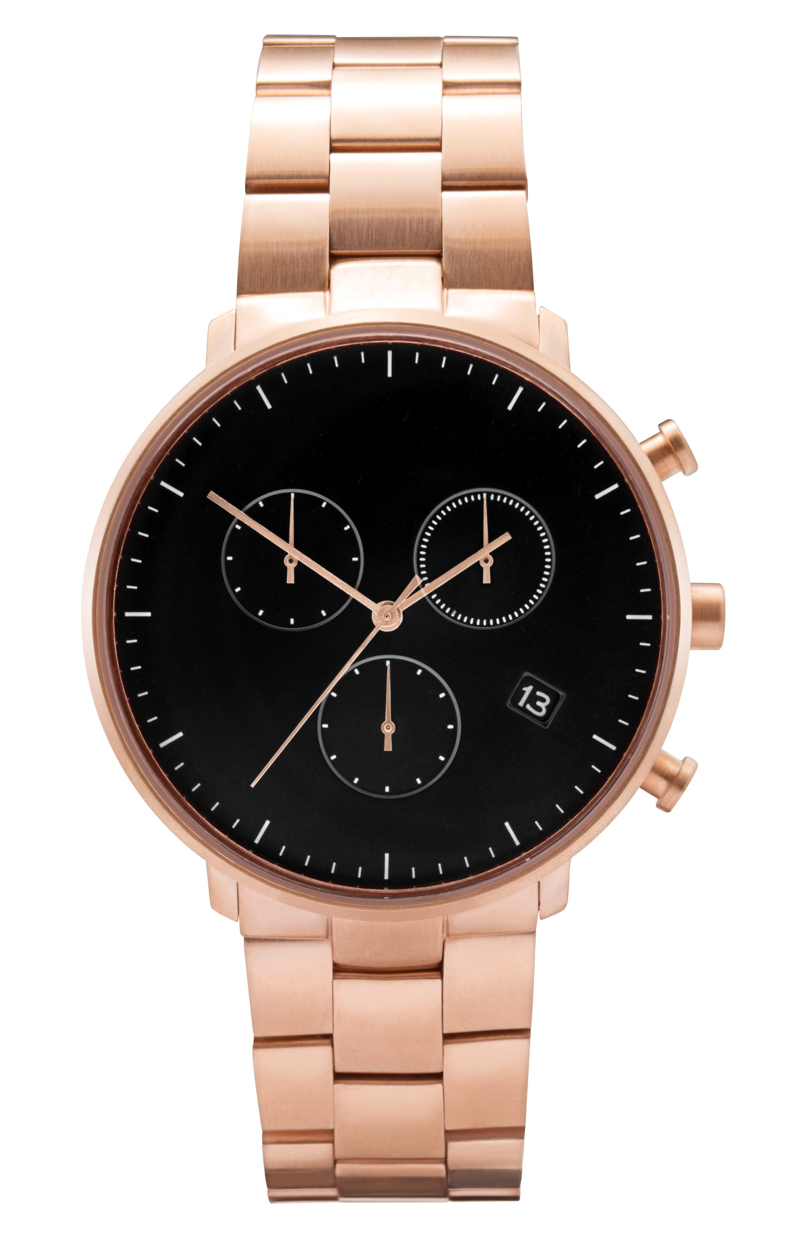 Alternate Image 1 Selected - Leonard & Church Bleeker Chronograph Bracelet Watch, 40mm