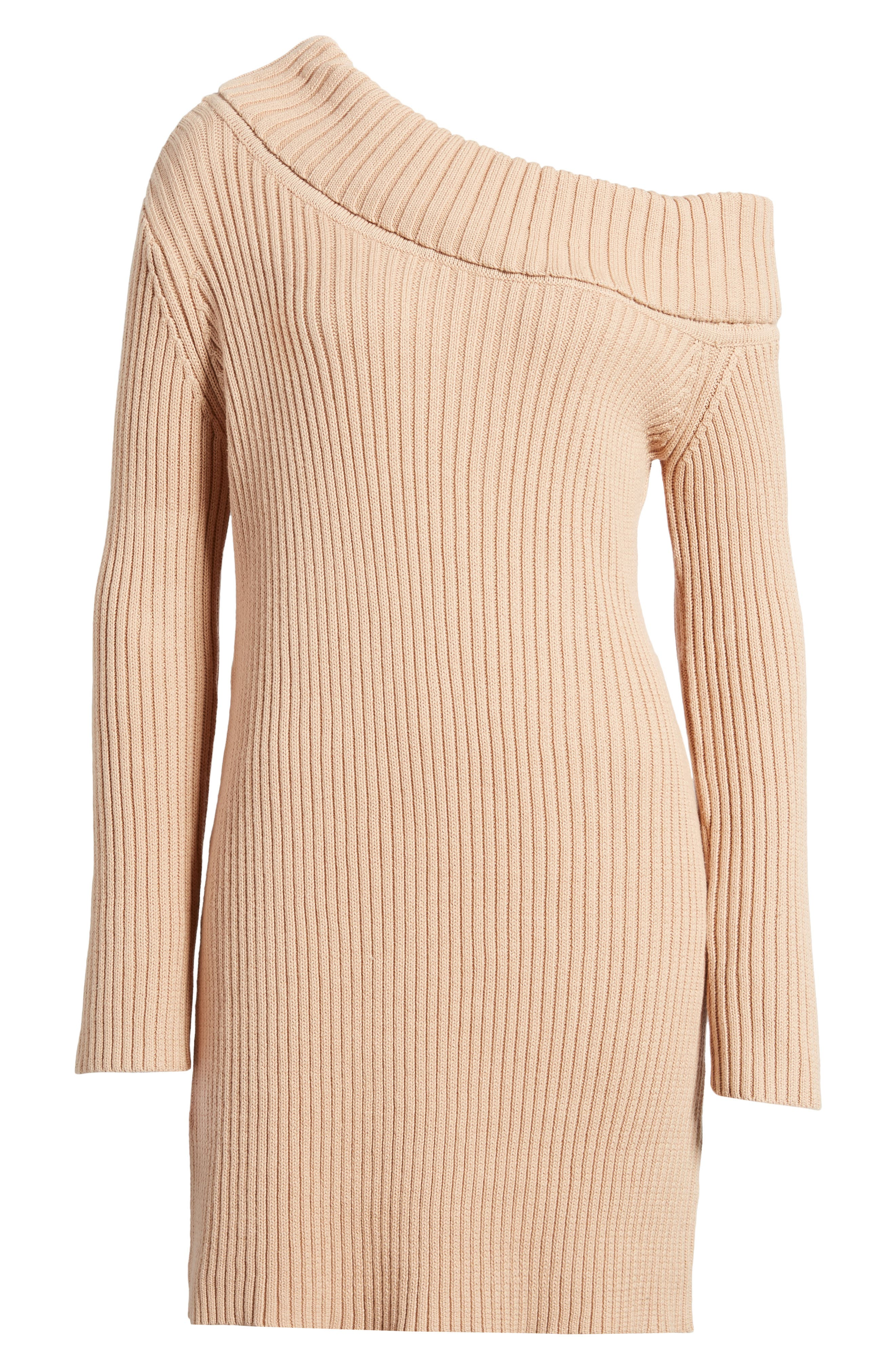 Like a Melody Off the Shoulder Dress,                             Alternate thumbnail 6, color,                             Dusty Pink