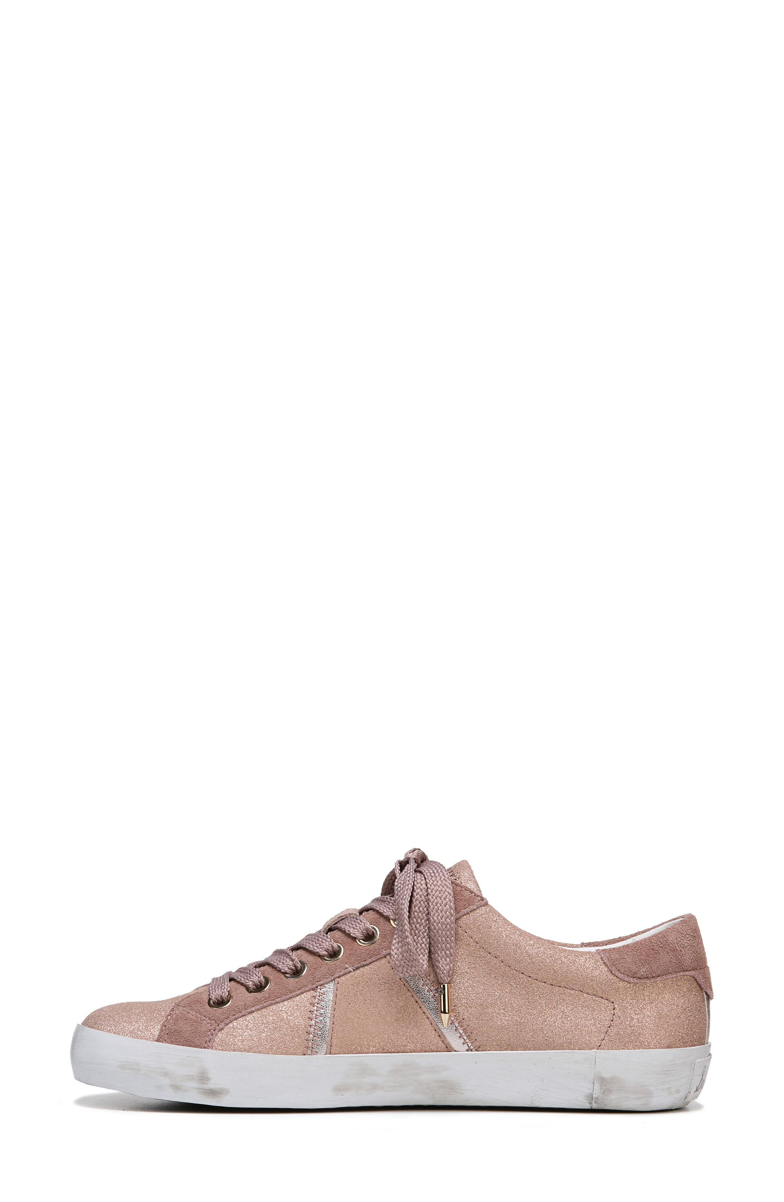 Baylee Sneaker,                             Alternate thumbnail 4, color,                             Blush Suede