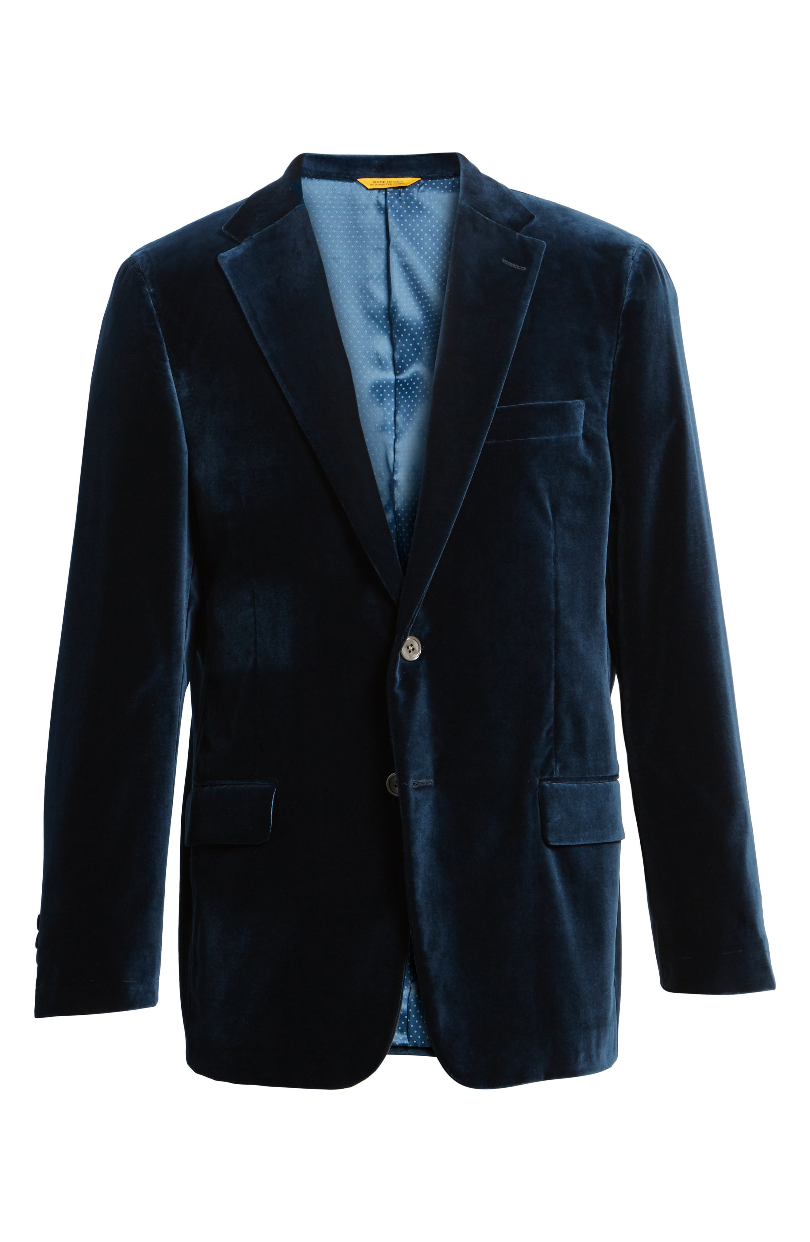 Alternate Image 9  - Hickey Freeman Classic B Fit Stretch Velvet Dinner Jacket
