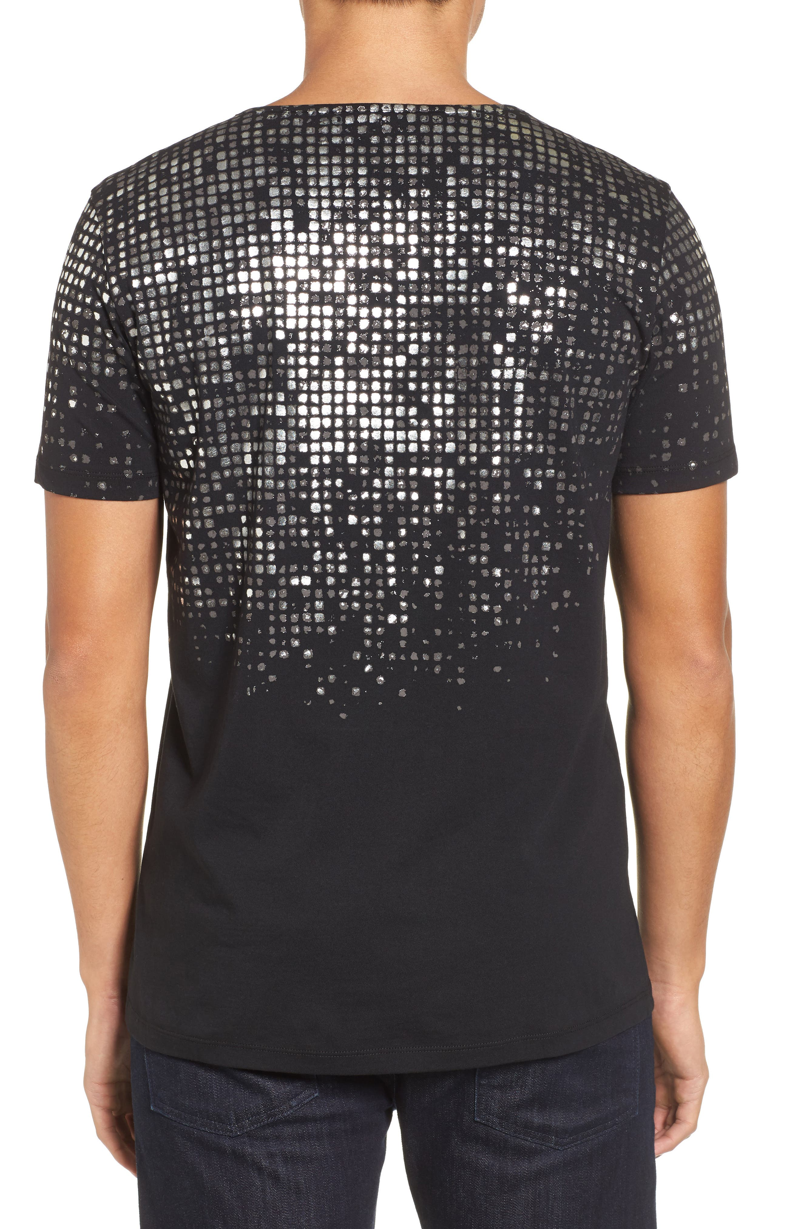HUGO Silver Detail T-Shirt,                             Alternate thumbnail 2, color,                             Black
