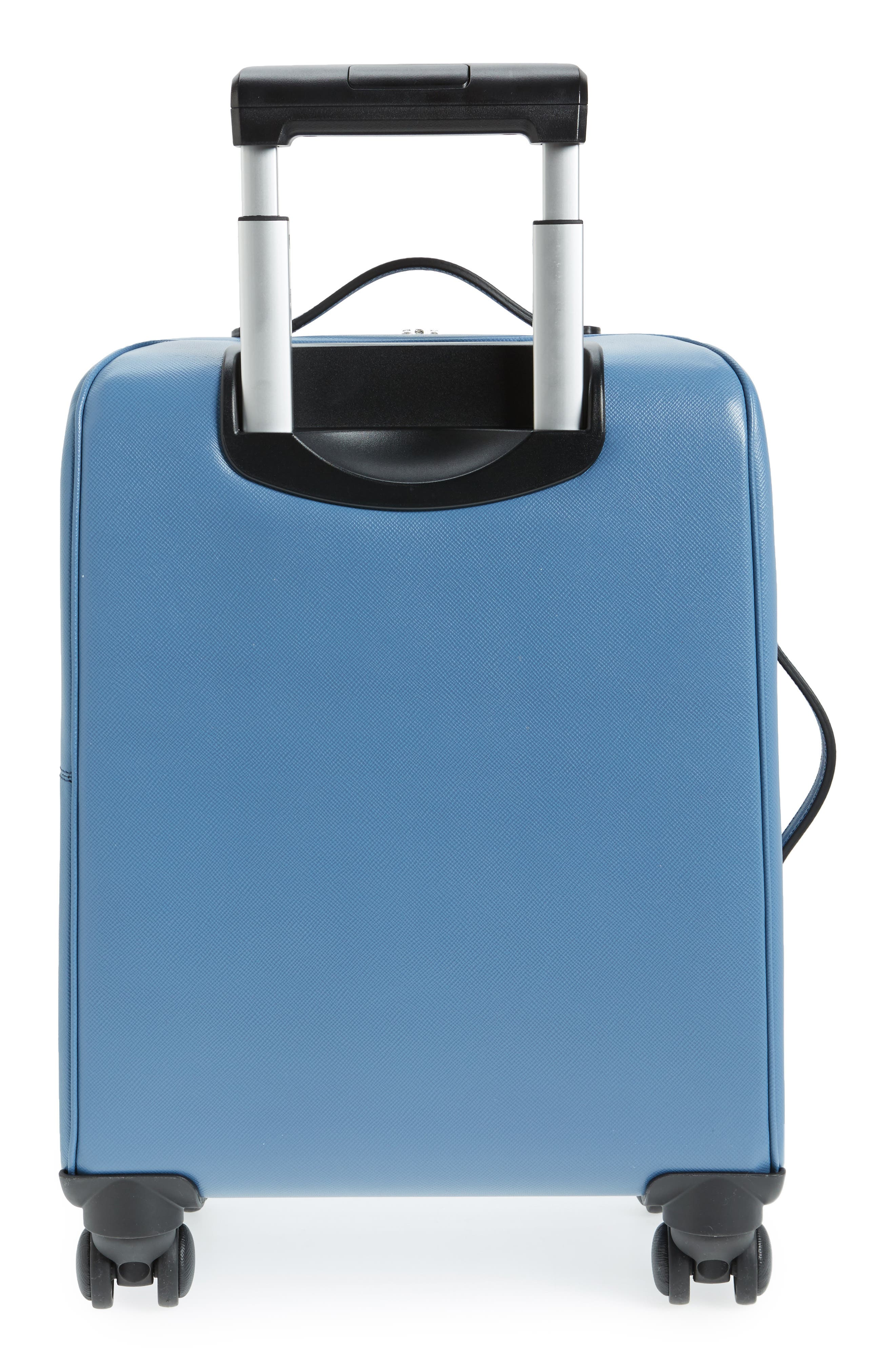Trolley Spinner Wheeled Carry-On Suitcase,                             Alternate thumbnail 4, color,                             Blue Jeans