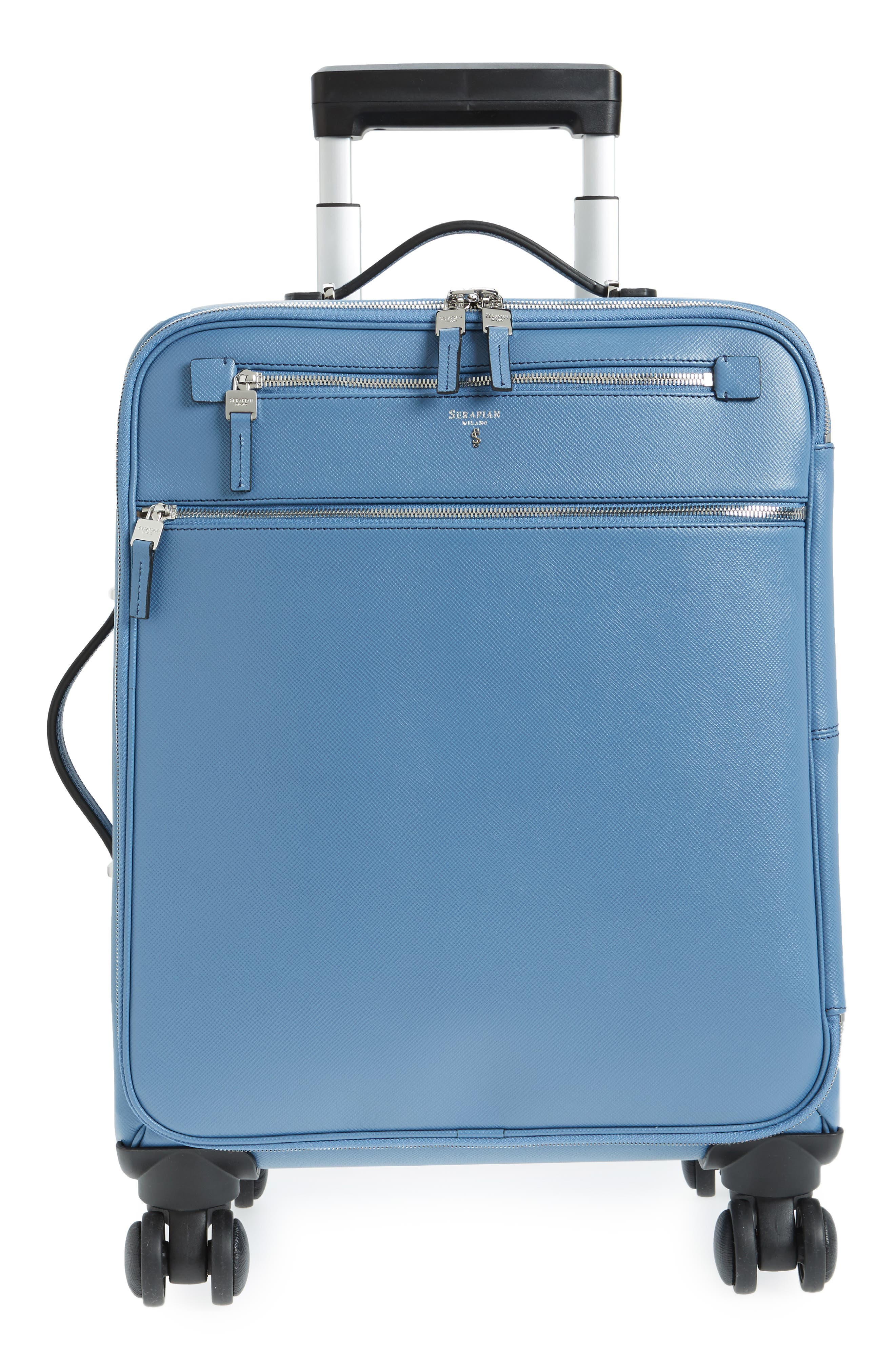 Trolley Spinner Wheeled Carry-On Suitcase,                         Main,                         color, Blue Jeans
