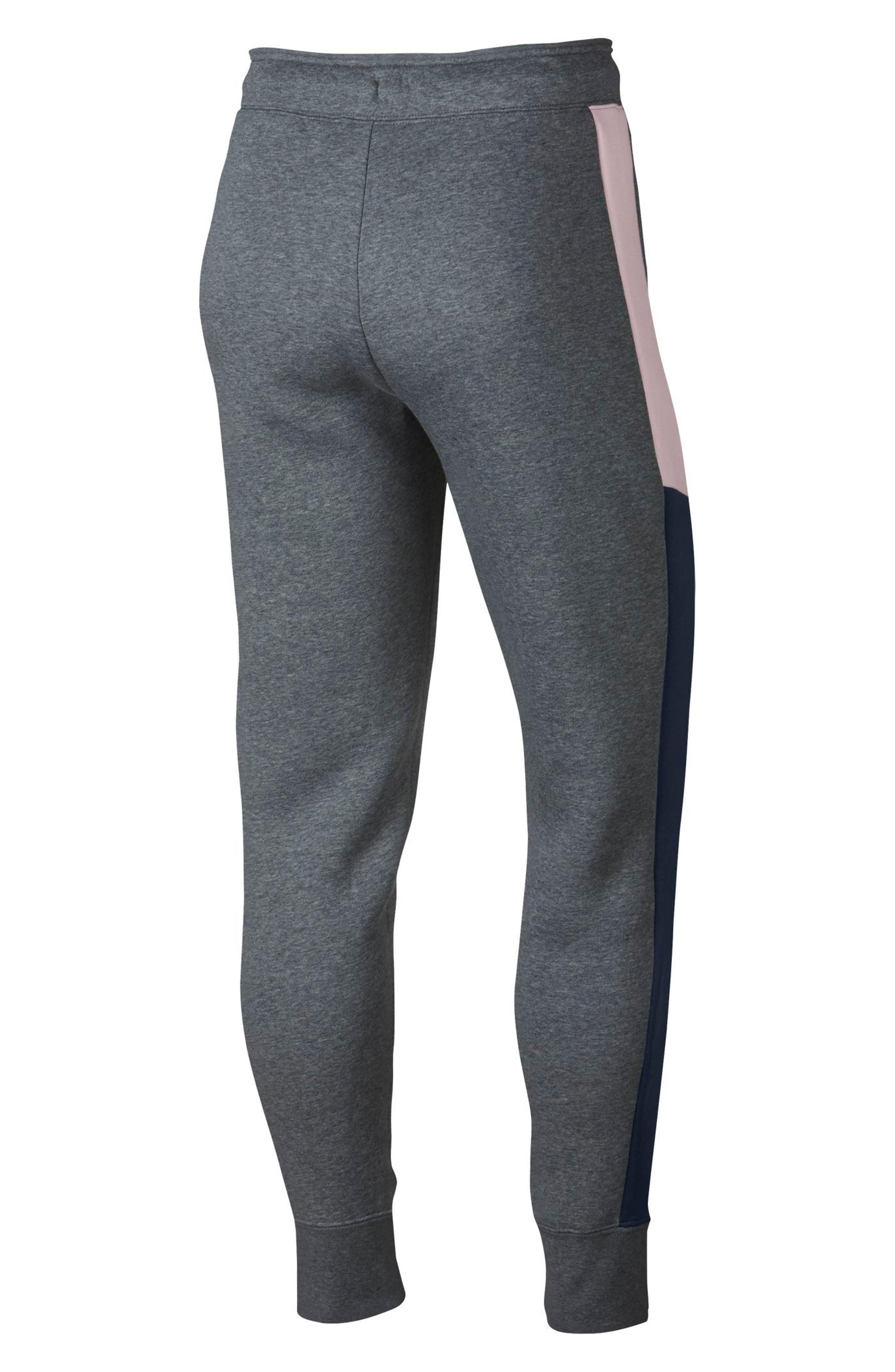 Sportswear Women's Rally Pants,                             Alternate thumbnail 2, color,                             Carbon Htr/ Obsidian/ Pink