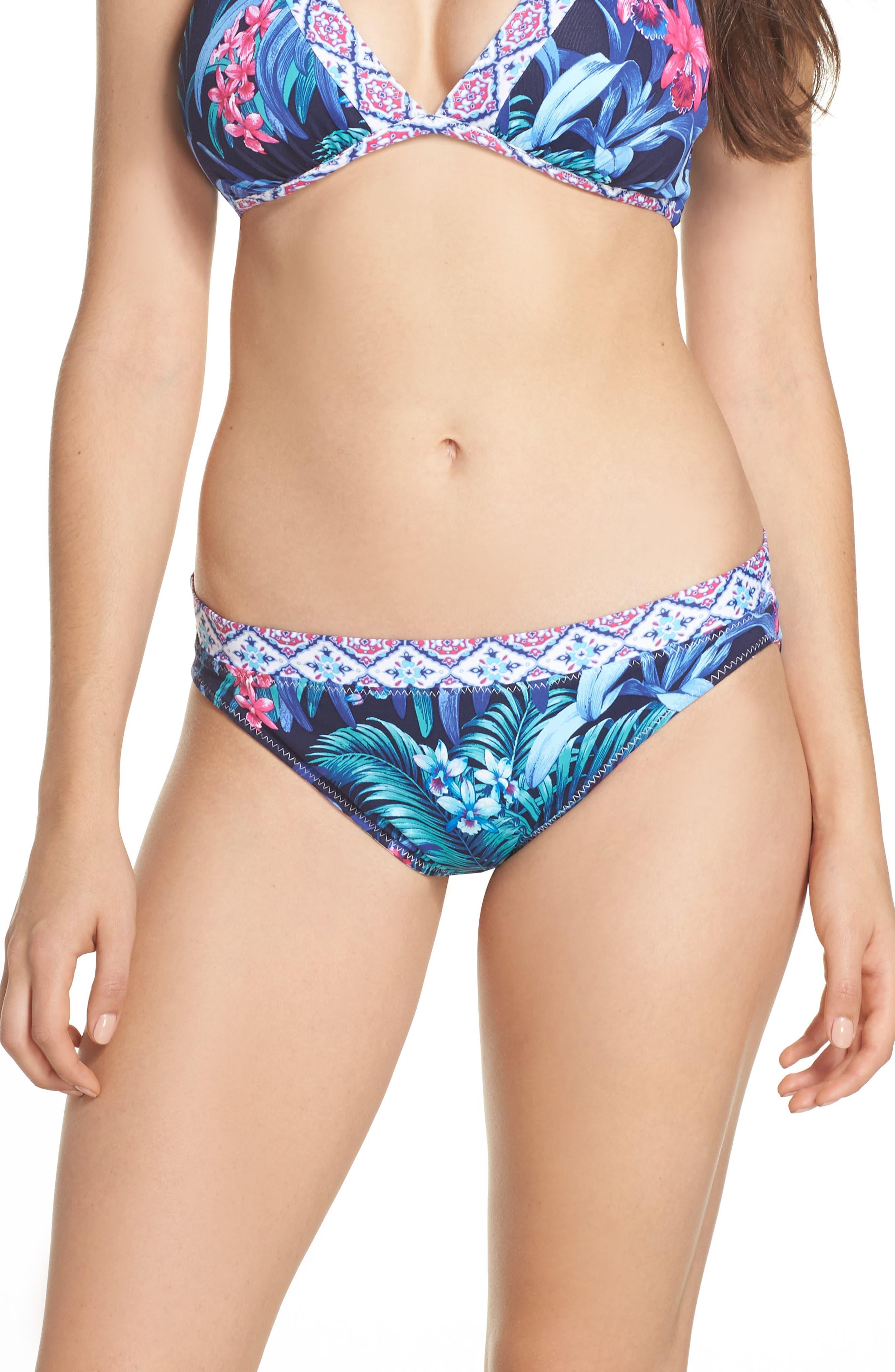 Alternate Image 1 Selected - Tommy Bahama Majorelle Reversible Hipster Bikini Bottoms