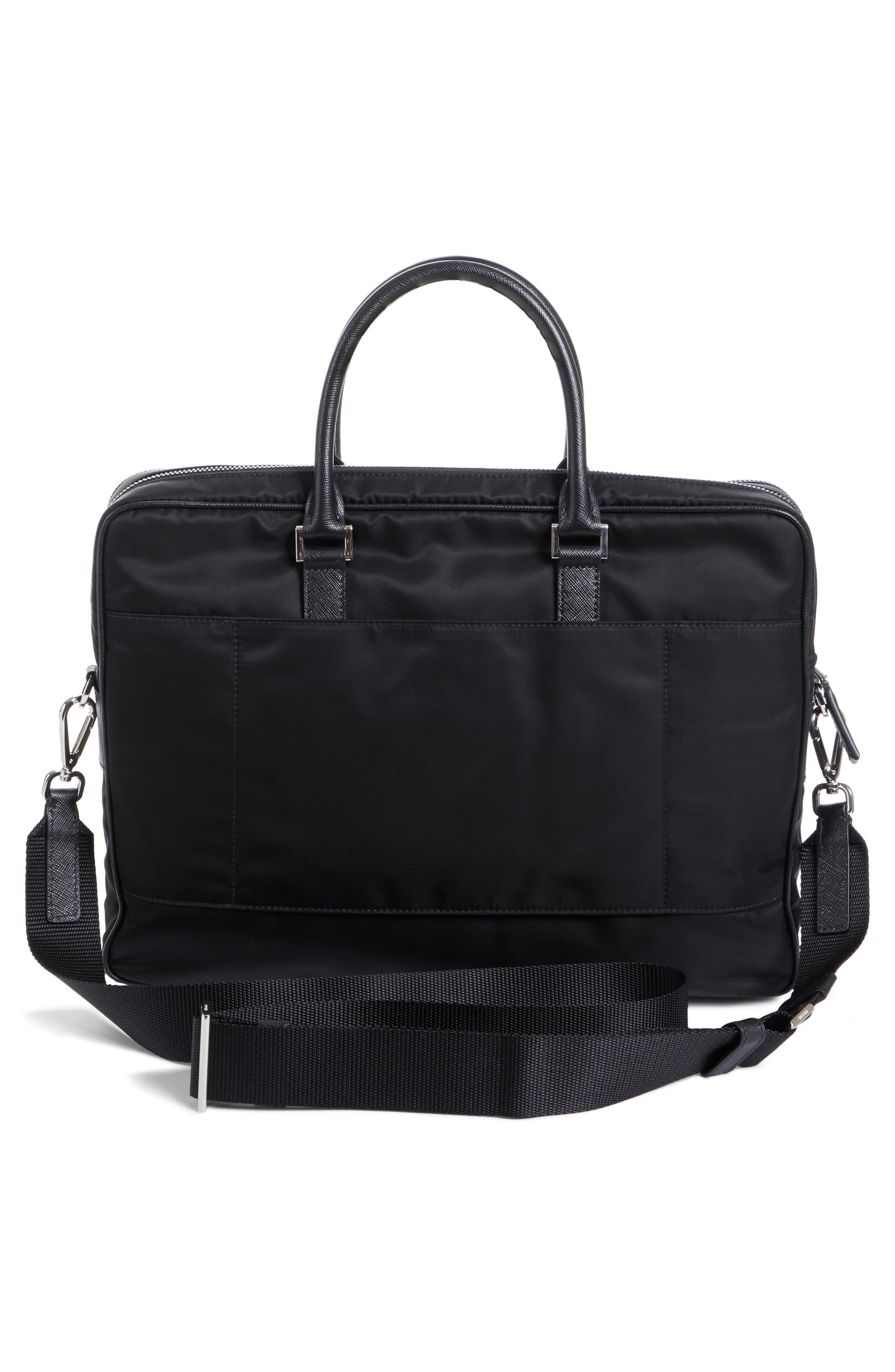 Alternate Image 3  - Prada Nylon Briefcase with Saffiano Leather Trim
