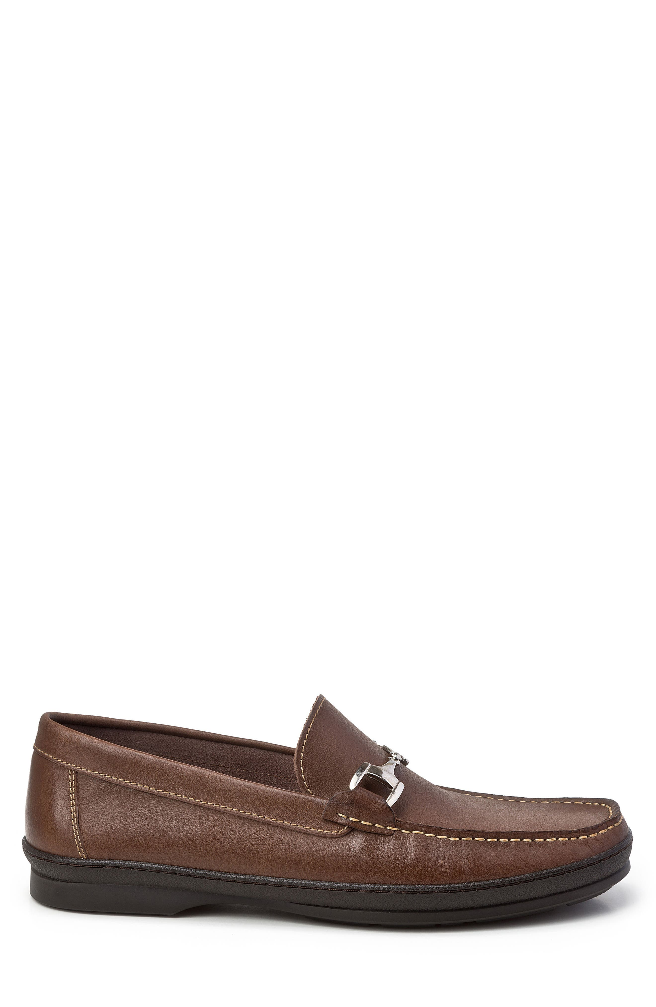 Navarro Bit Loafer,                             Alternate thumbnail 3, color,                             Brown Leather
