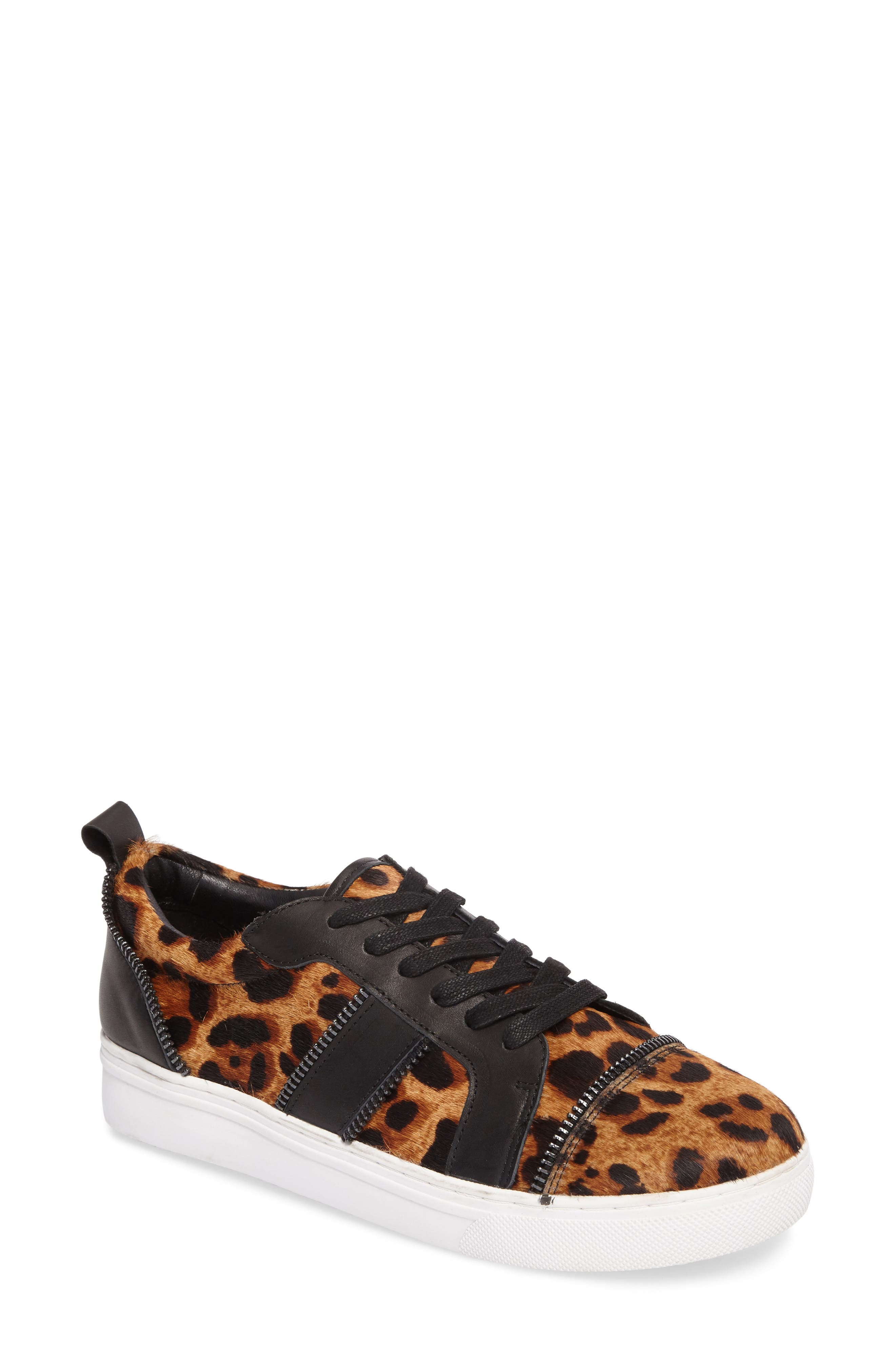Harvey Genuine Calf Hair Sneaker,                         Main,                         color, Leopard Calf Hair