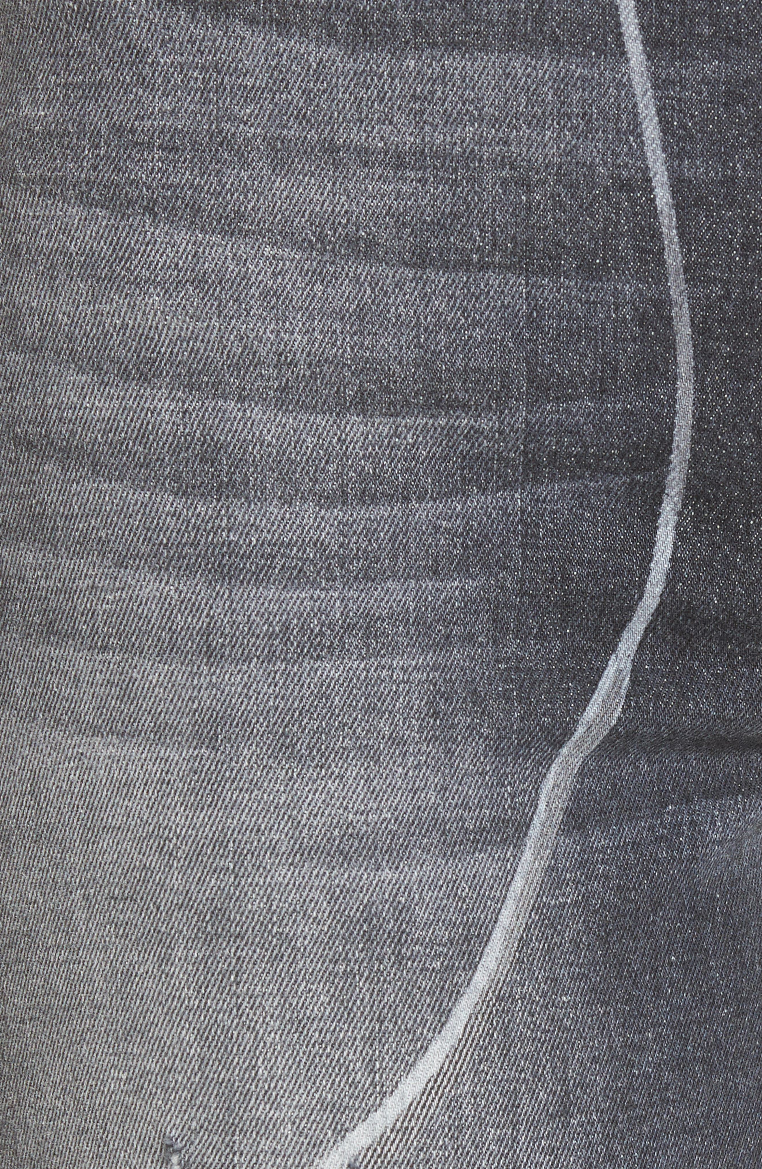 Zoeey High Waist Crop Straight Leg Jeans,                             Alternate thumbnail 5, color,                             Noir In Bloom