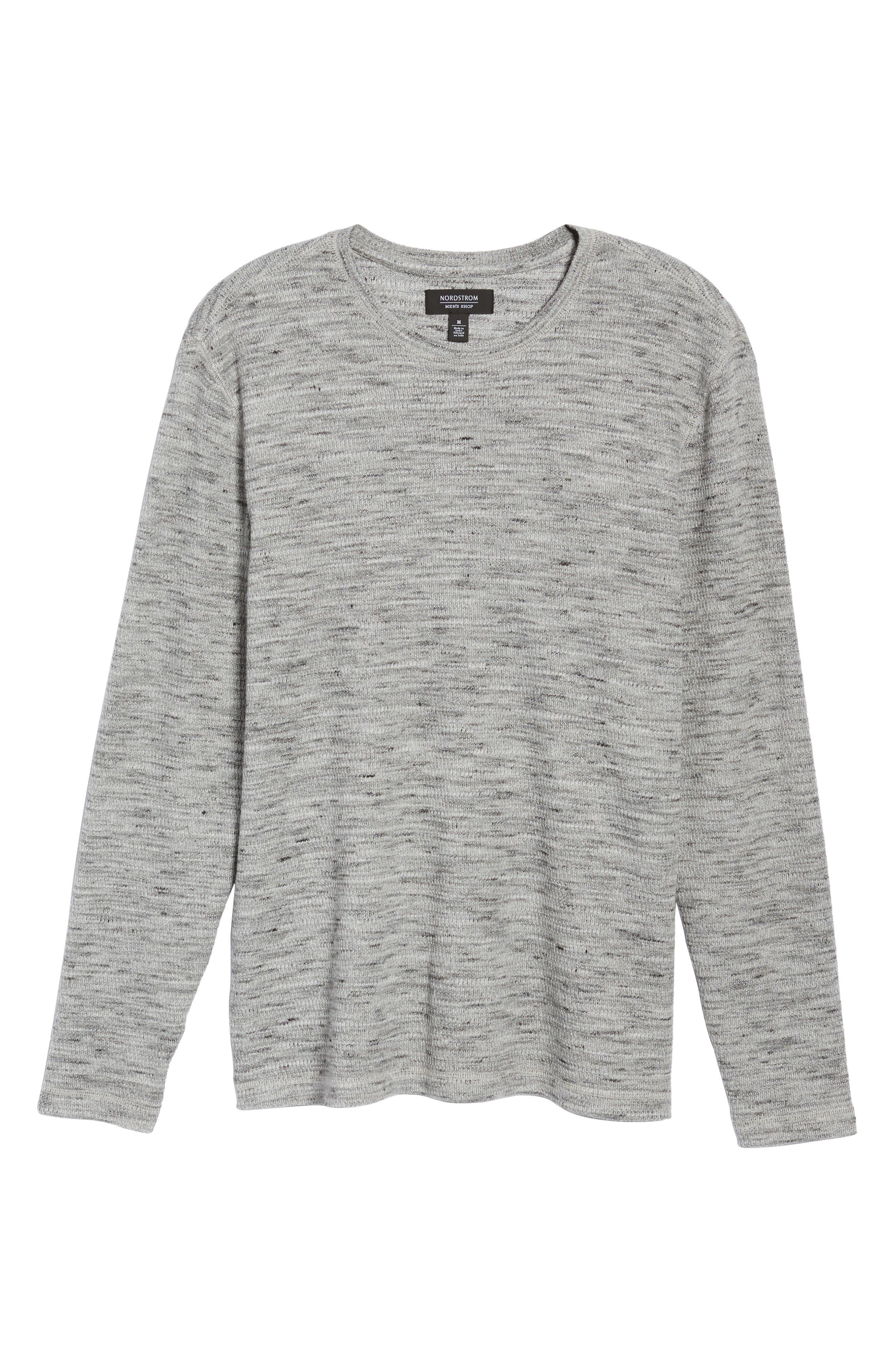 Waffle Knit Shirt,                             Alternate thumbnail 6, color,                             Grey Sleet Melange