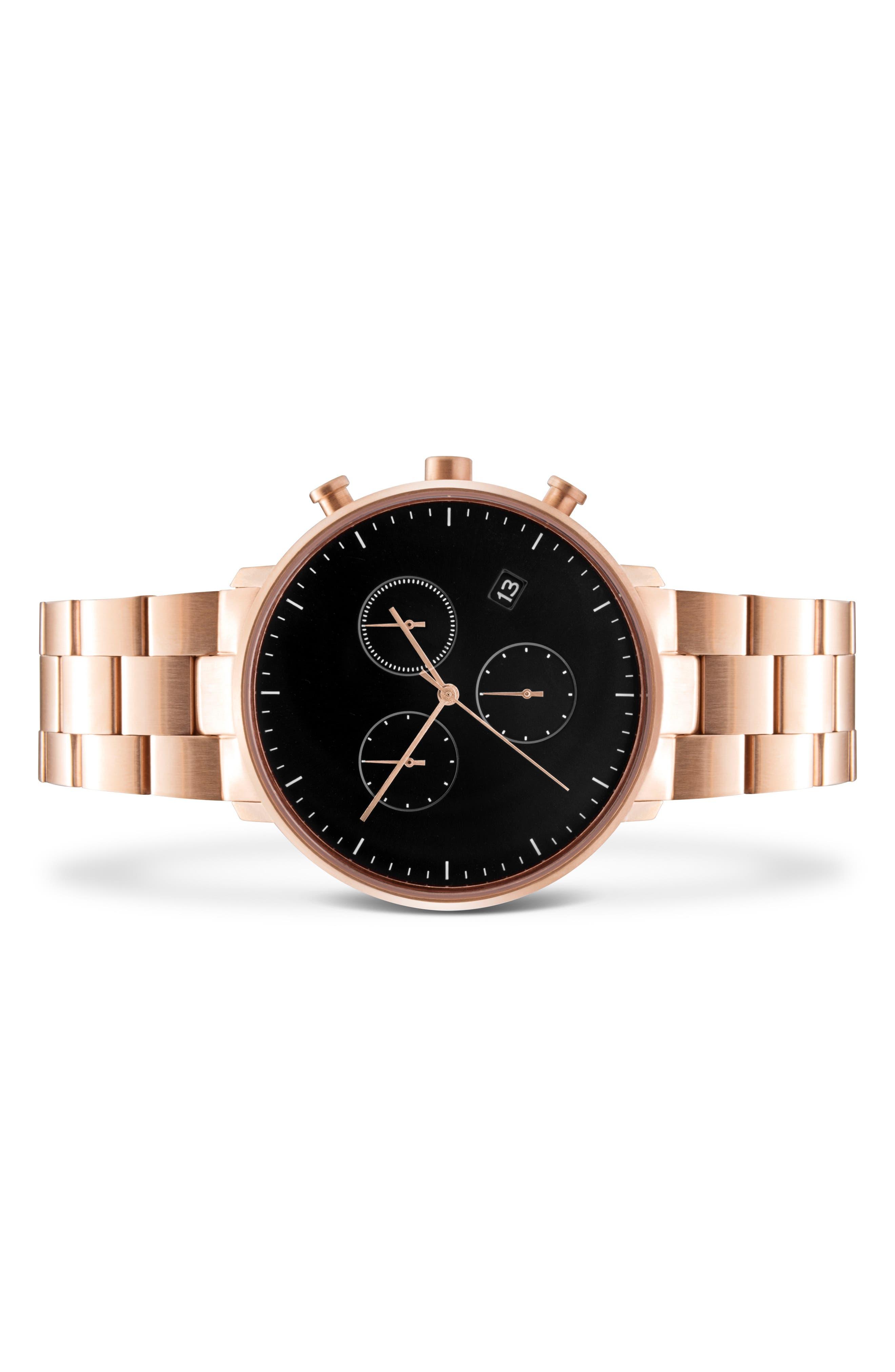 Alternate Image 2  - Leonard & Church Bleeker Chronograph Bracelet Watch, 40mm
