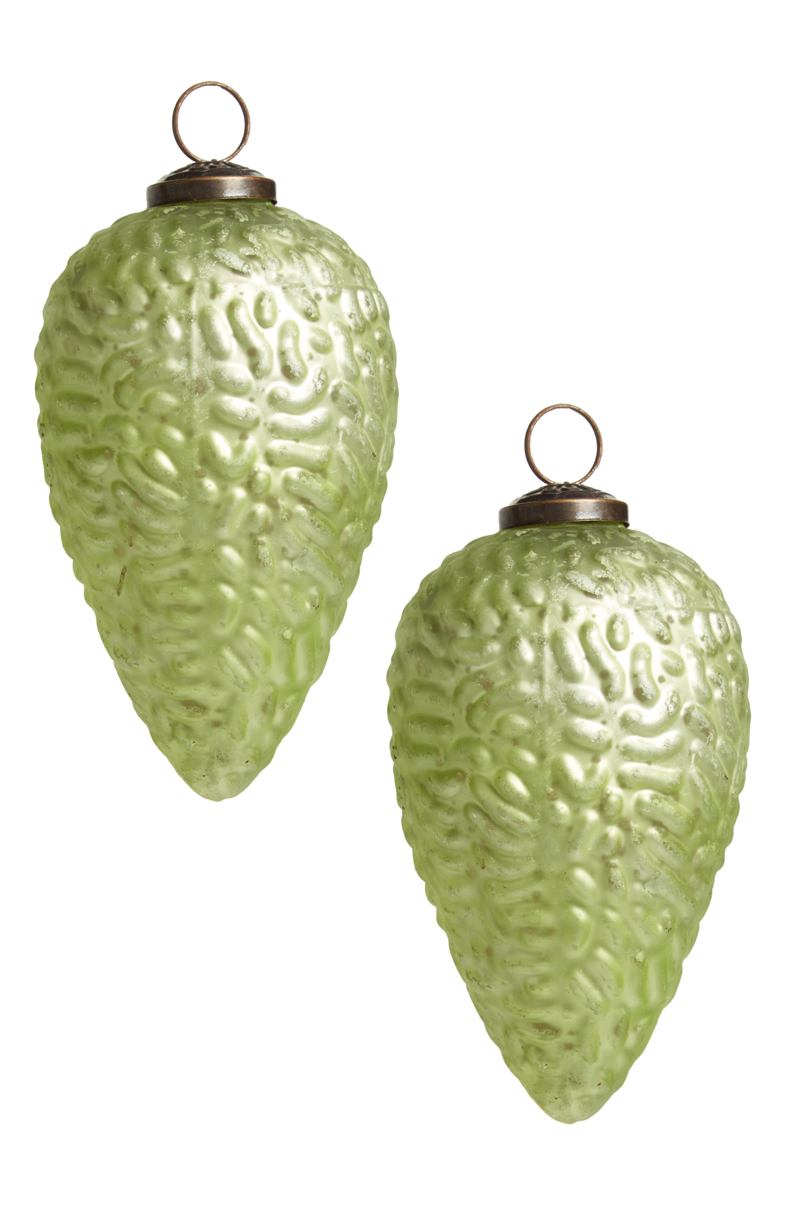 Arty Set of 2 Glass Ornaments