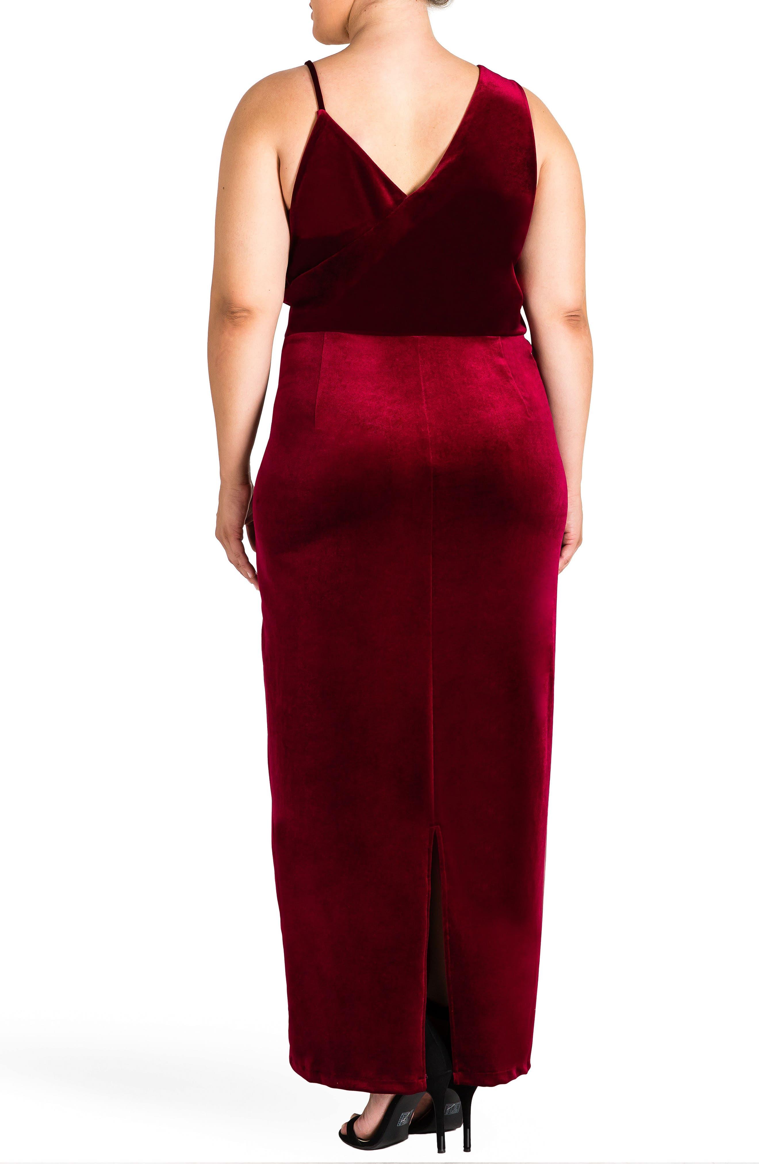 Alternate Image 2  - Standards & Practices Regan Velvet Sheath Gown (Plus Size)