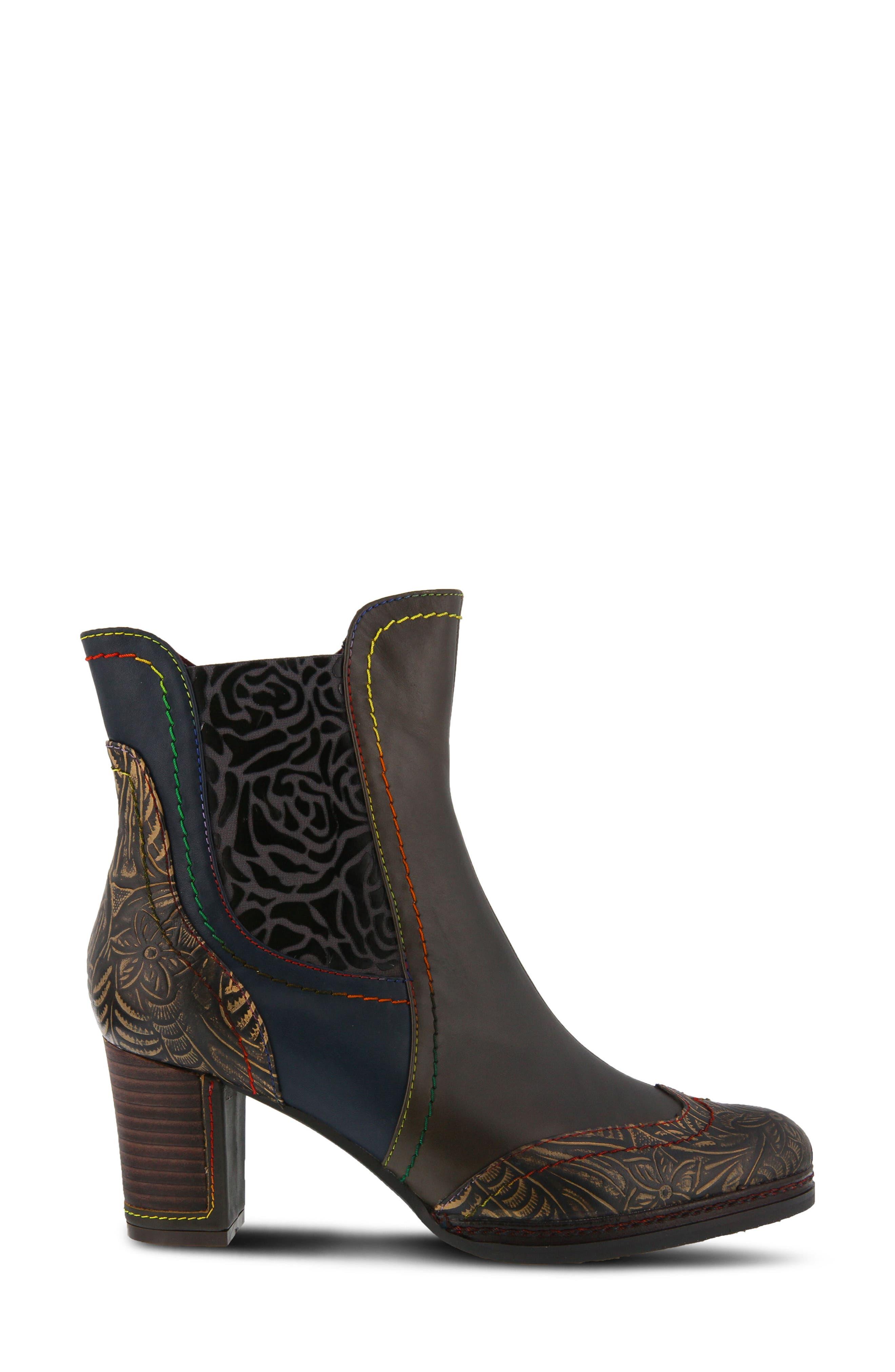 L'Artiste Santana Boot,                             Alternate thumbnail 3, color,                             Olive Green Leather