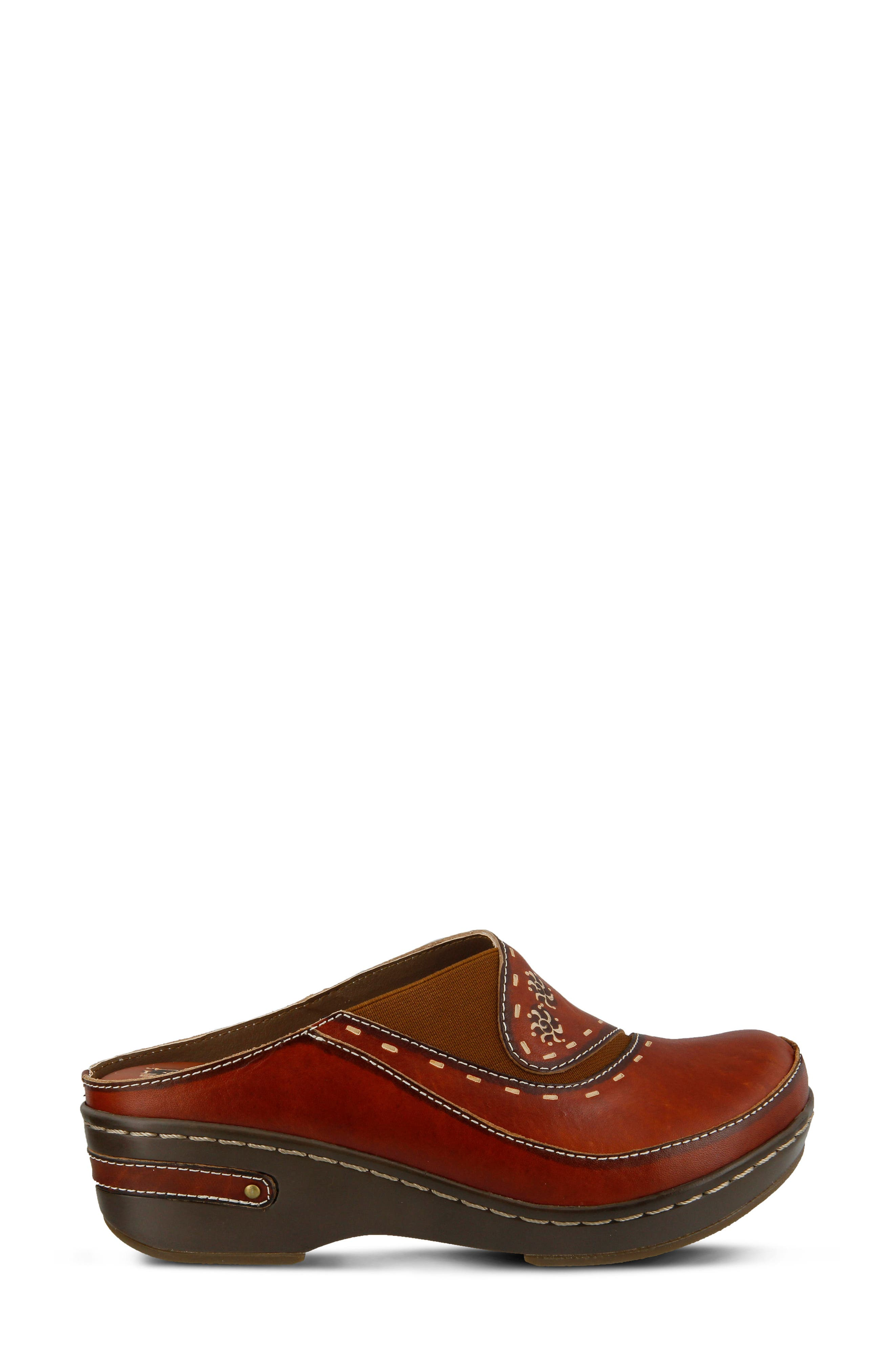 L'Artiste Chino Clog,                             Alternate thumbnail 3, color,                             Camel Leather