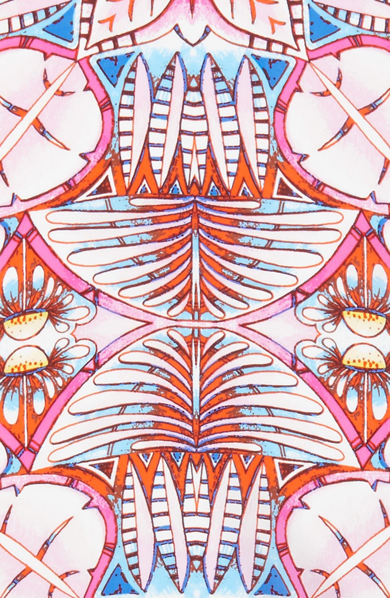 Island Palm Diamond Silk Scarf,                             Alternate thumbnail 4, color,                             Cockatoo Pink