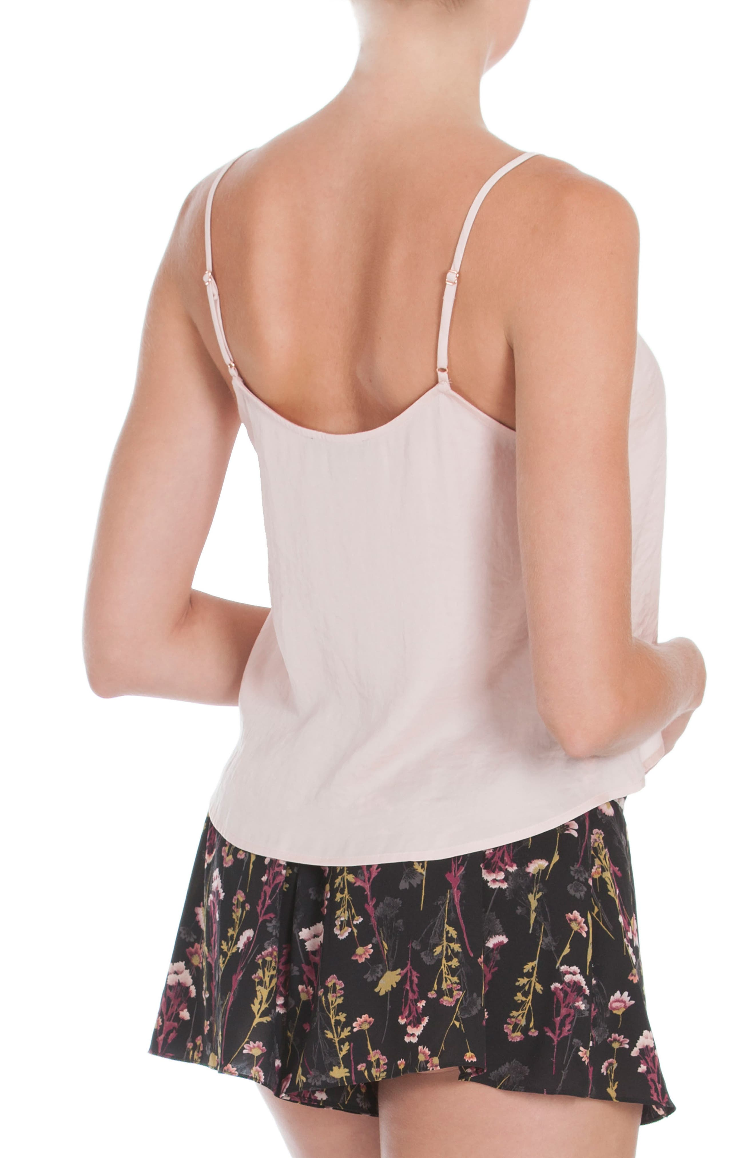 Crop Camisole,                             Alternate thumbnail 2, color,                             Dusty Rose
