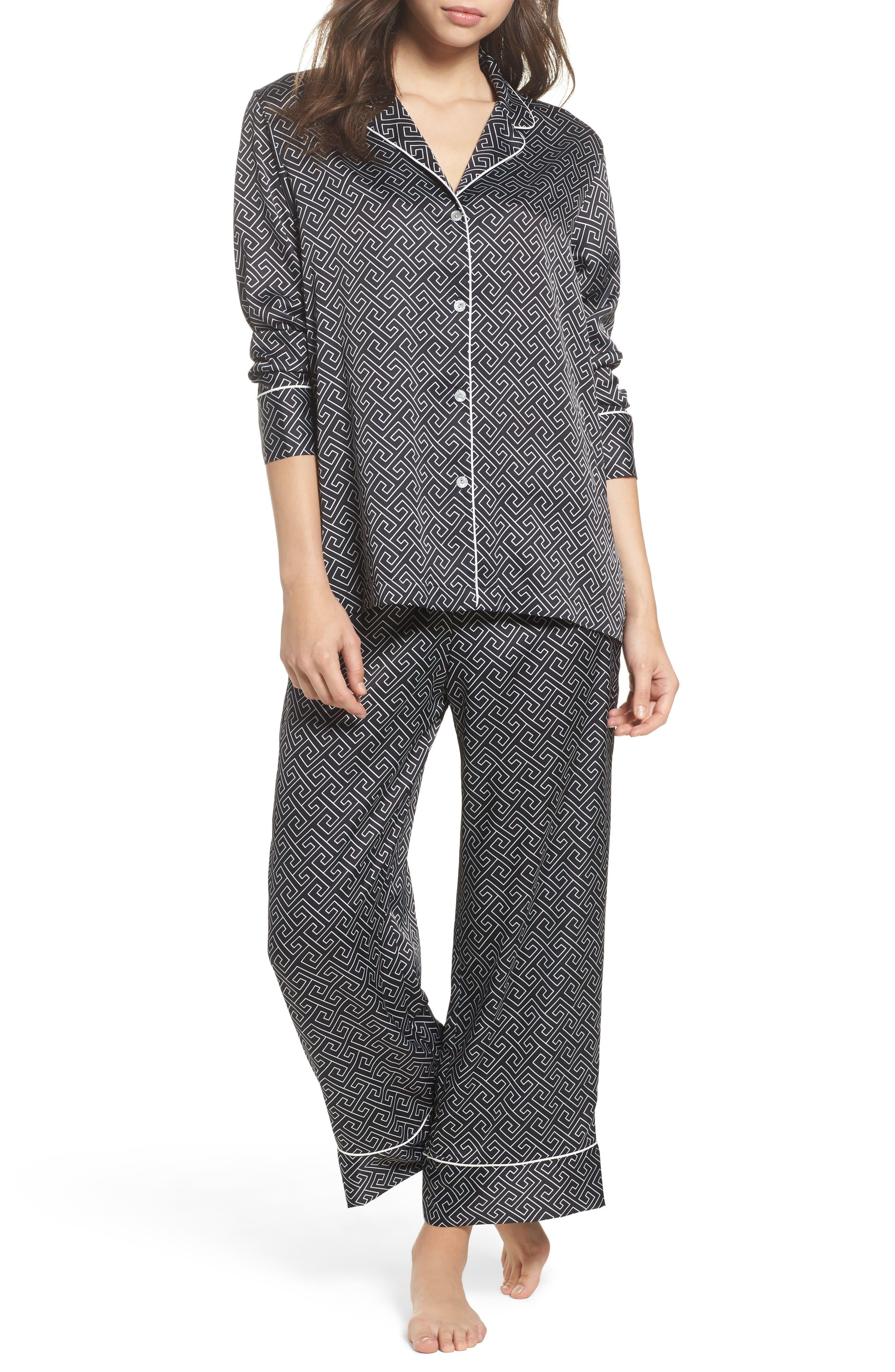 Natori Labyrinth Satin Pajamas