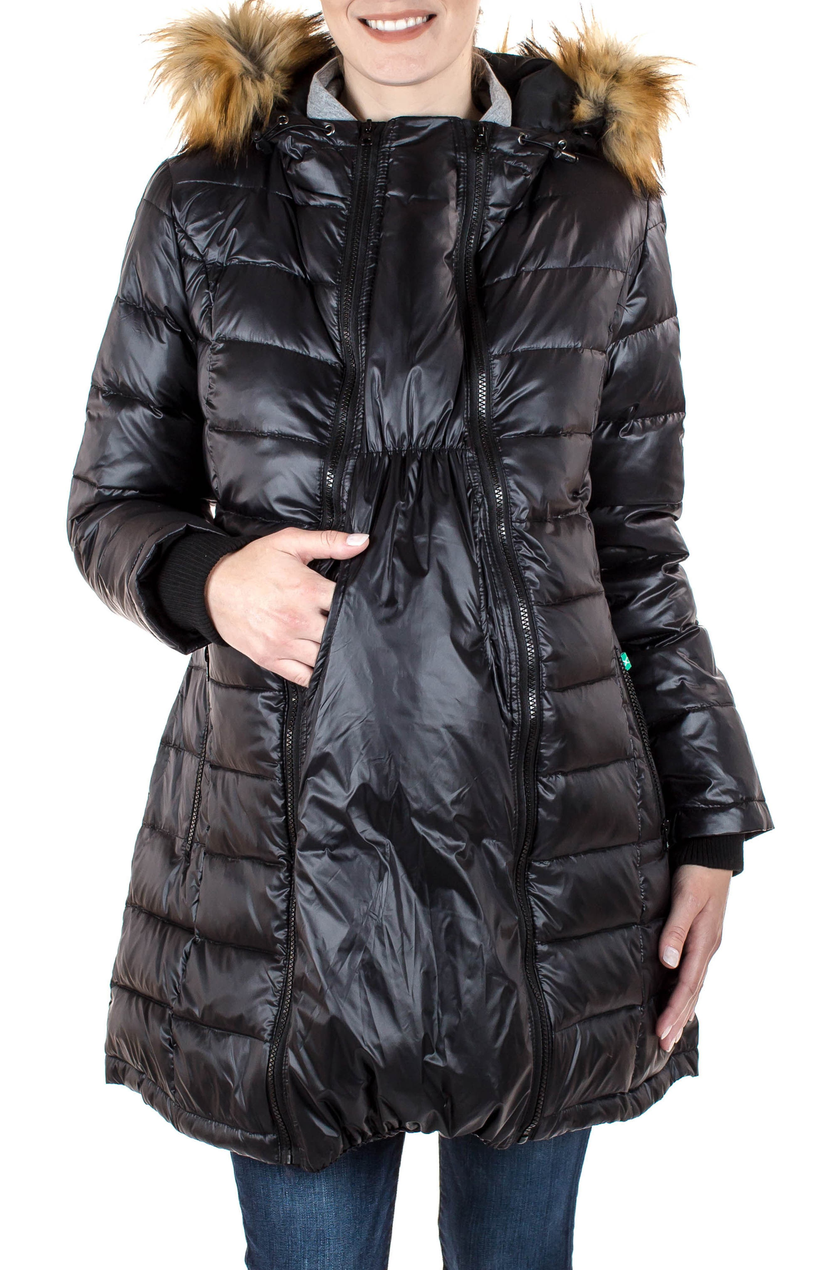 Main Image - Modern Eternity Quilted Maternity Parka