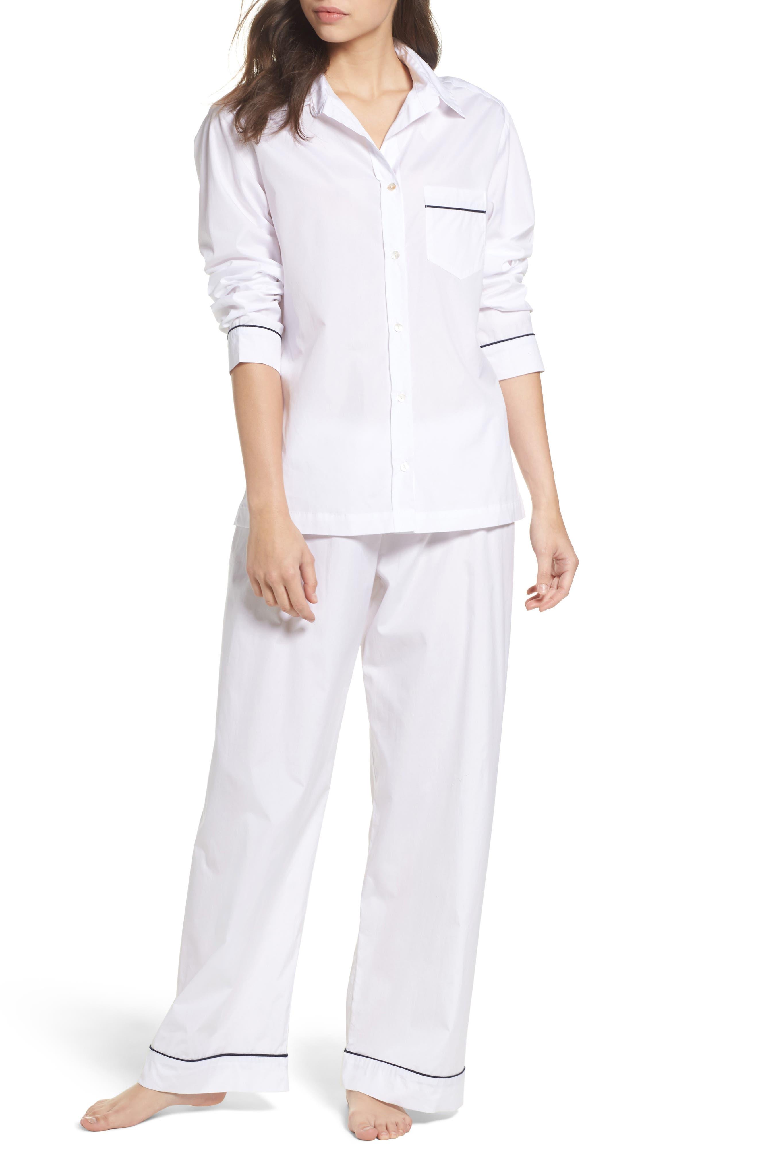 Main Image - Pour Les Femmes Piped Pajamas