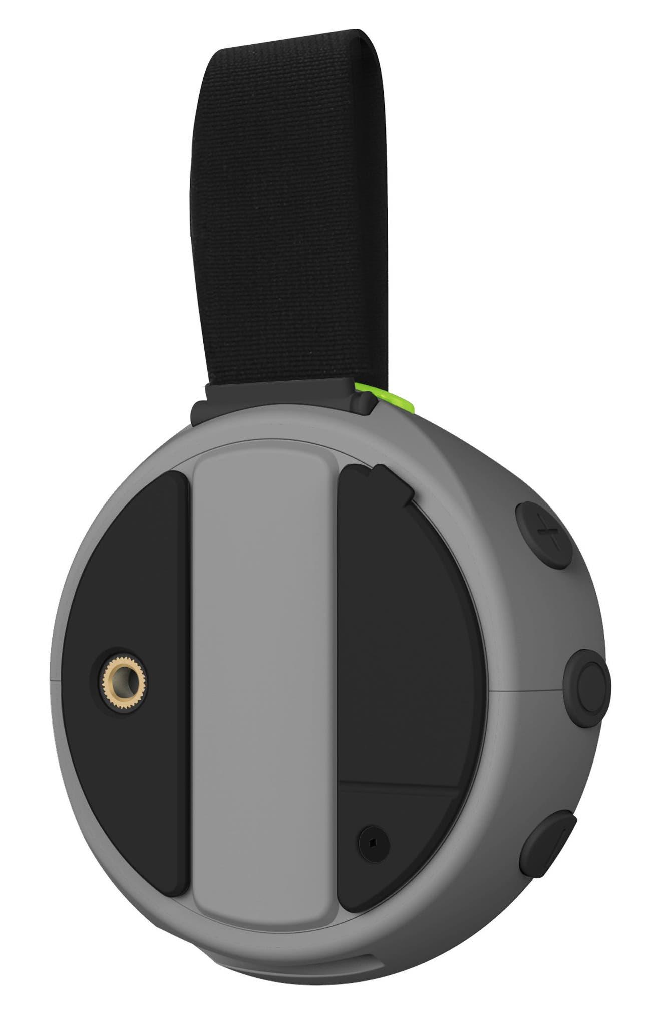 105 Portable Waterproof Bluetooth Speaker,                             Alternate thumbnail 3, color,                             Silver/ Green
