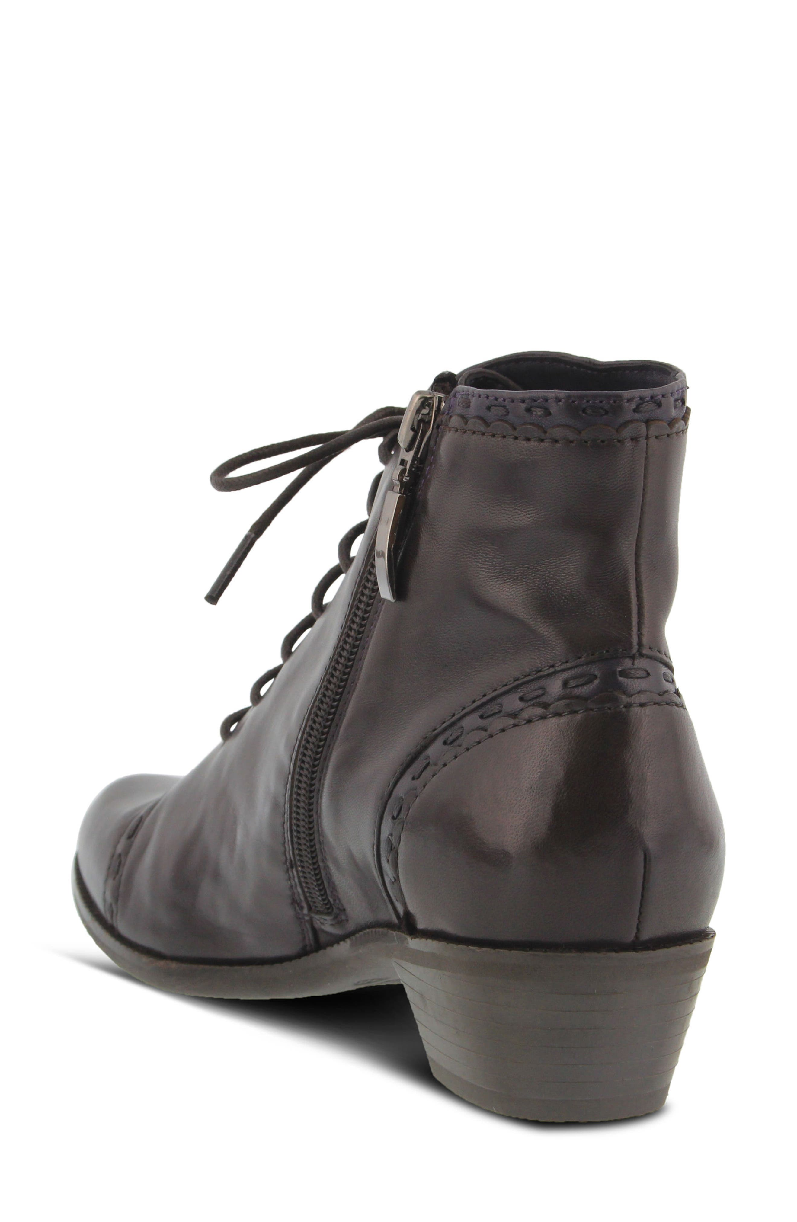Jaru Lace-Up Bootie,                             Alternate thumbnail 2, color,                             Dark Brown Leather