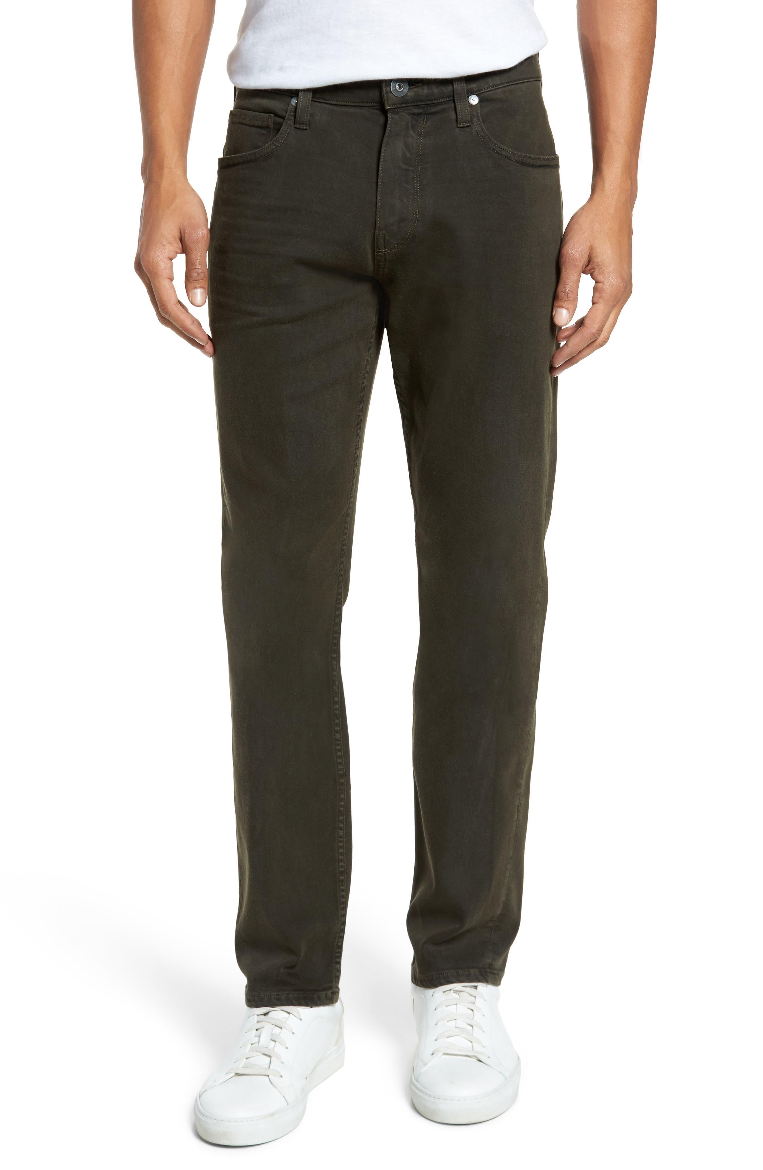 Main Image - PAIGE Transcend - Federal Slim Straight Leg Jeans (Vintage Juniper)