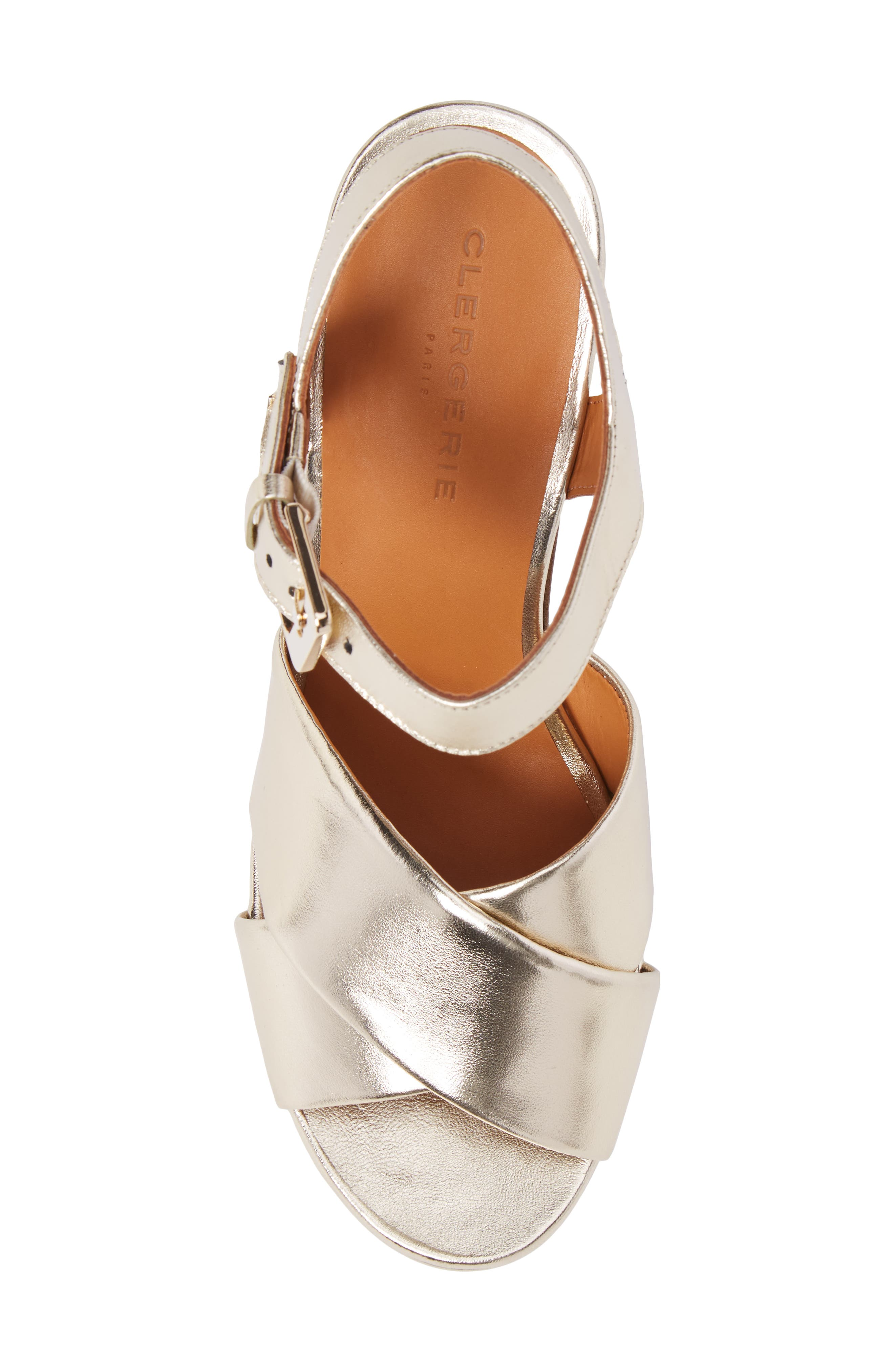 Vianne Ankle Strap Platform Sandal,                             Alternate thumbnail 5, color,                             Metallic Gold