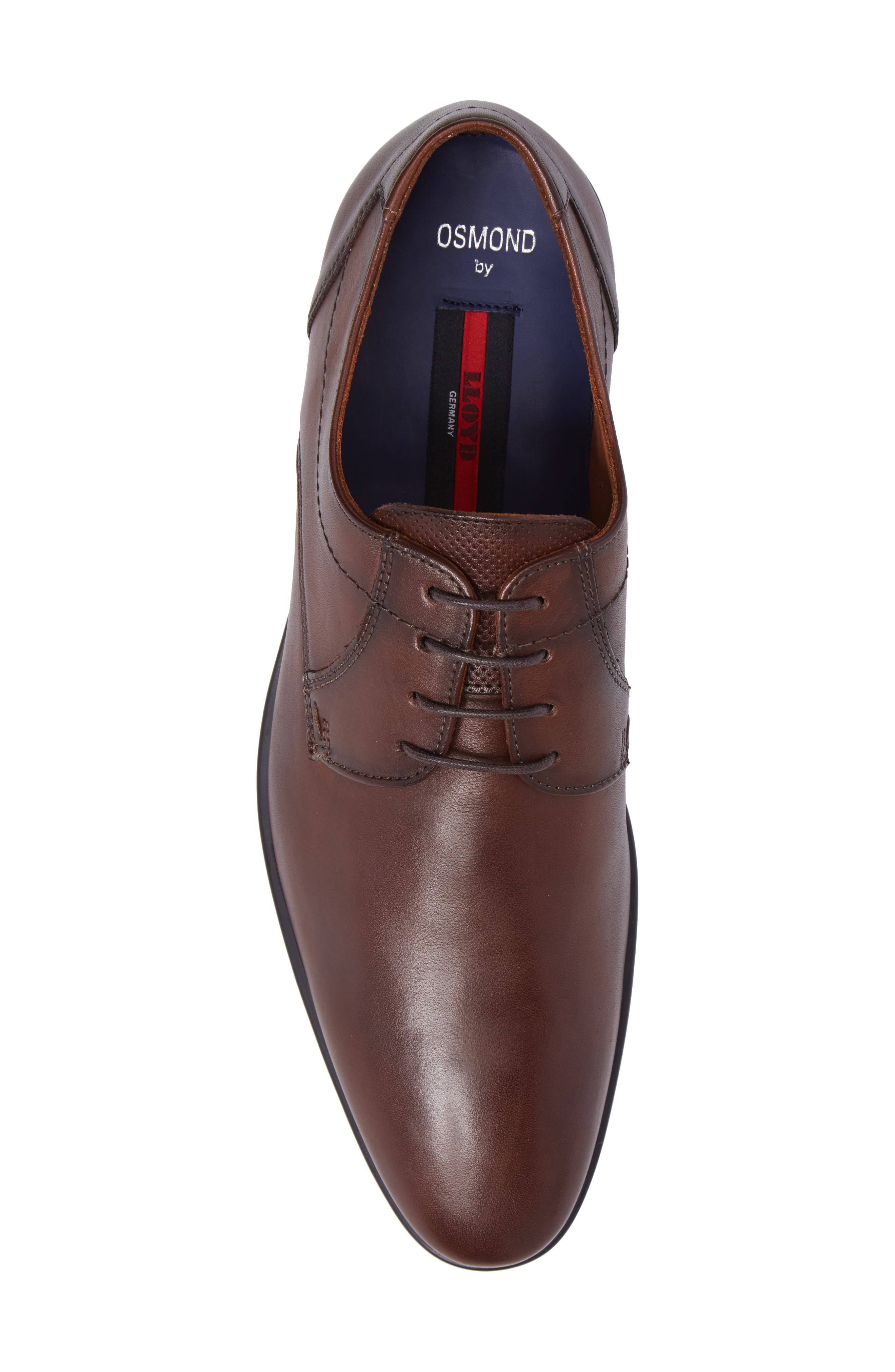 Osmond Plain Toe Derby,                             Alternate thumbnail 5, color,                             T.D.Moro Leather