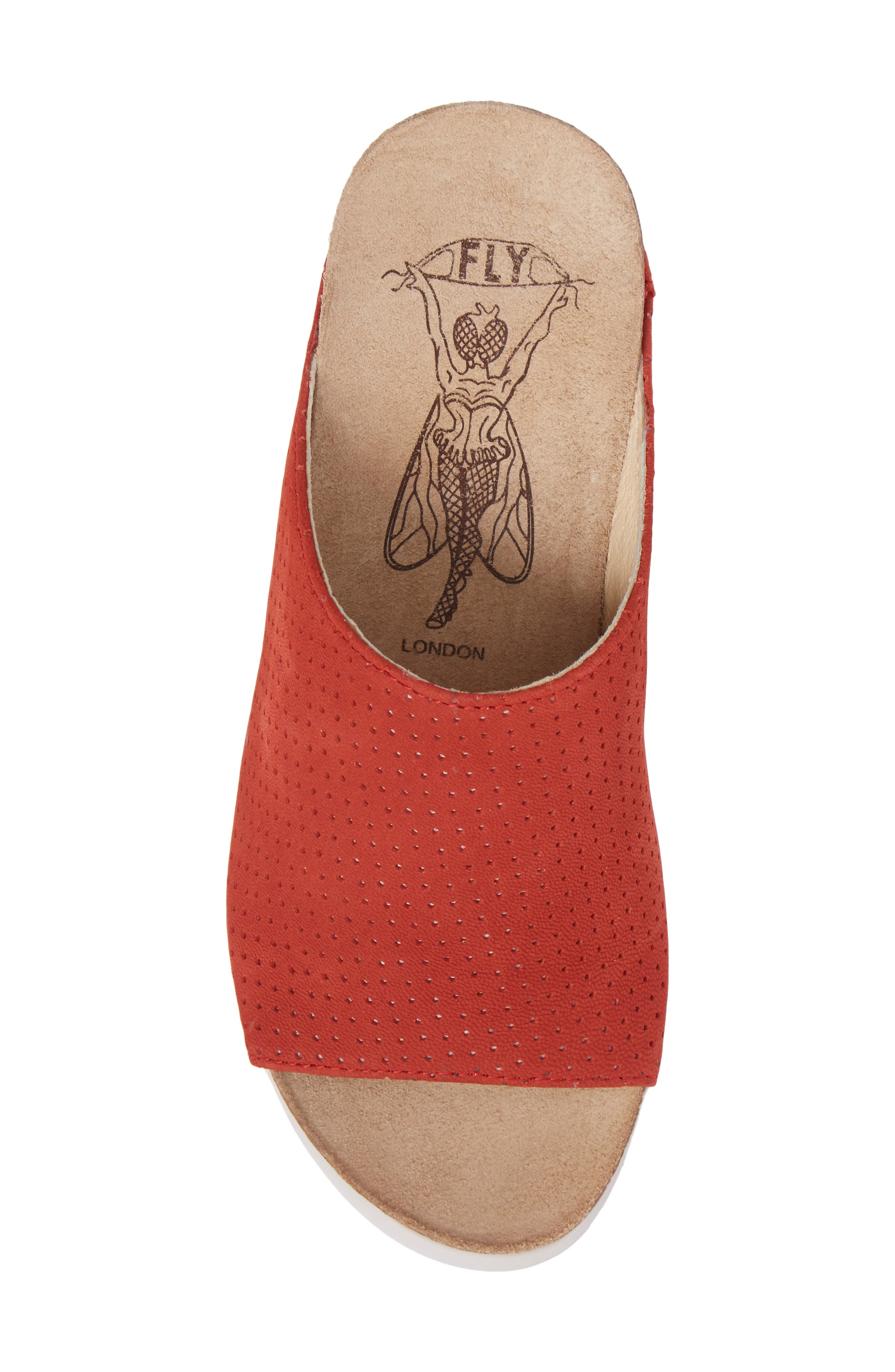 Whin Platform Sandal,                             Alternate thumbnail 5, color,                             Scarlet Cupido Leather
