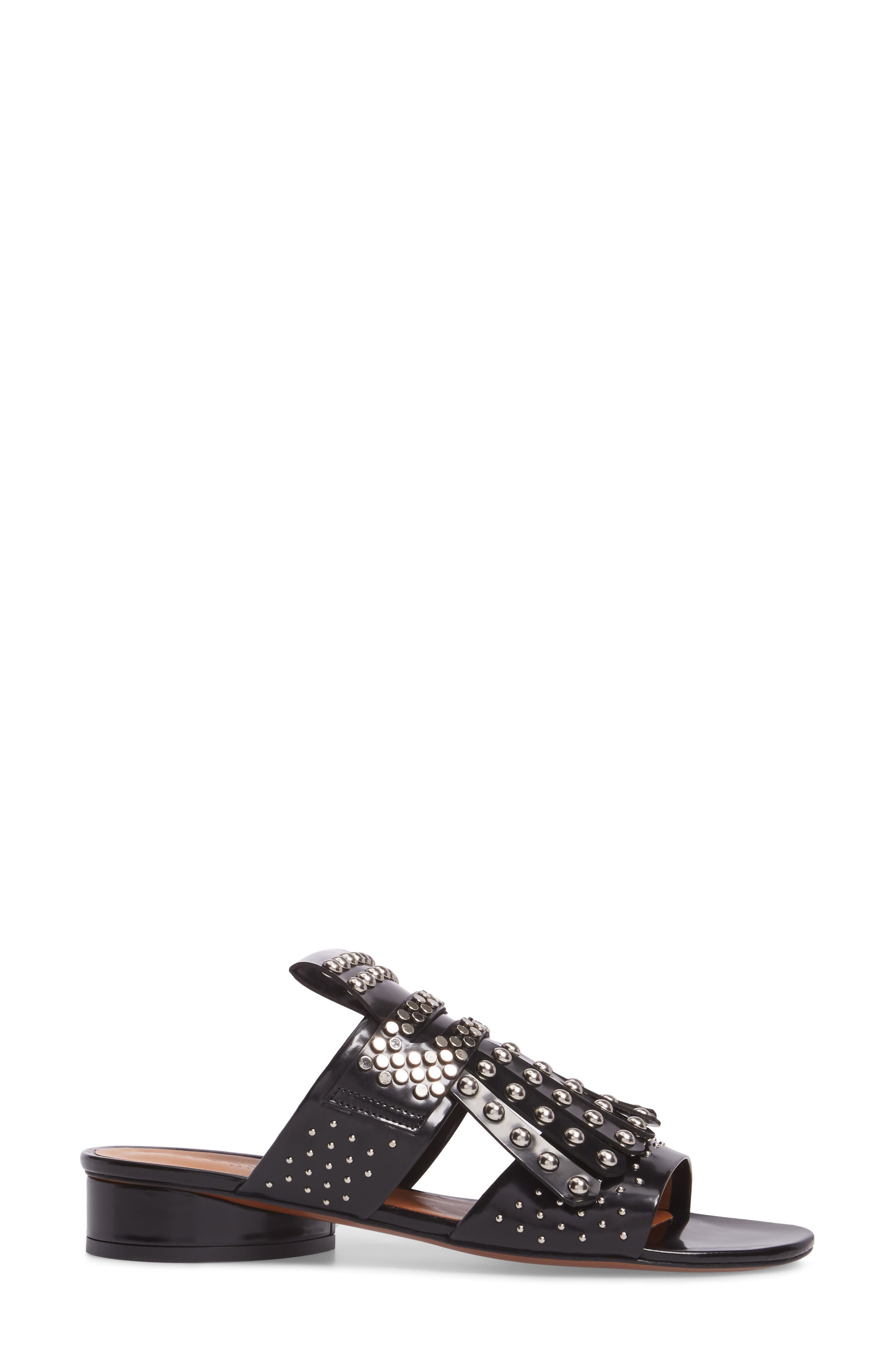 Figlouc Studded Sandal,                             Alternate thumbnail 3, color,                             Black