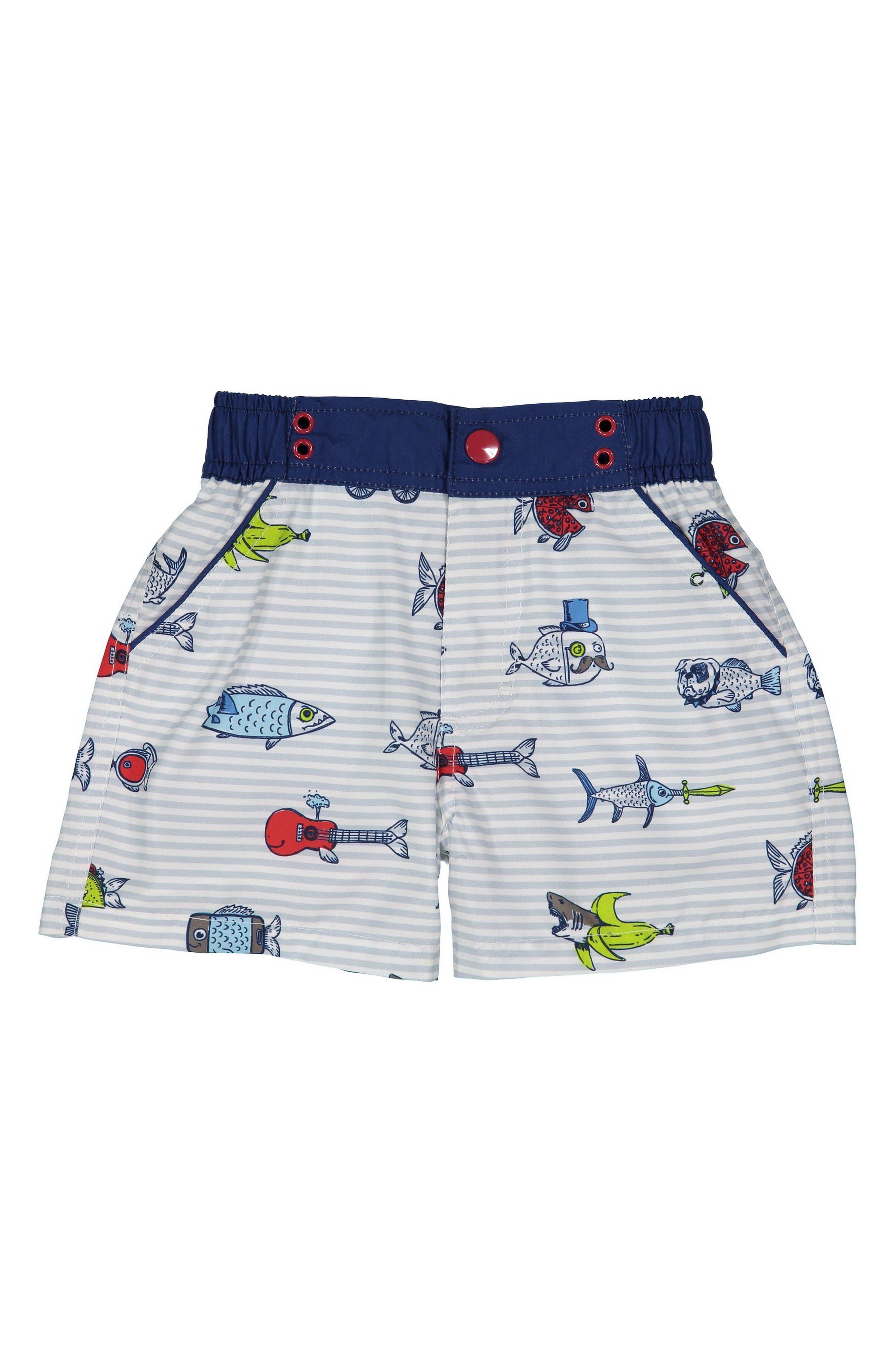 Alternate Image 1 Selected - Andy & Evan Fish Swim Trunks (Toddler Boys & Little Boys)
